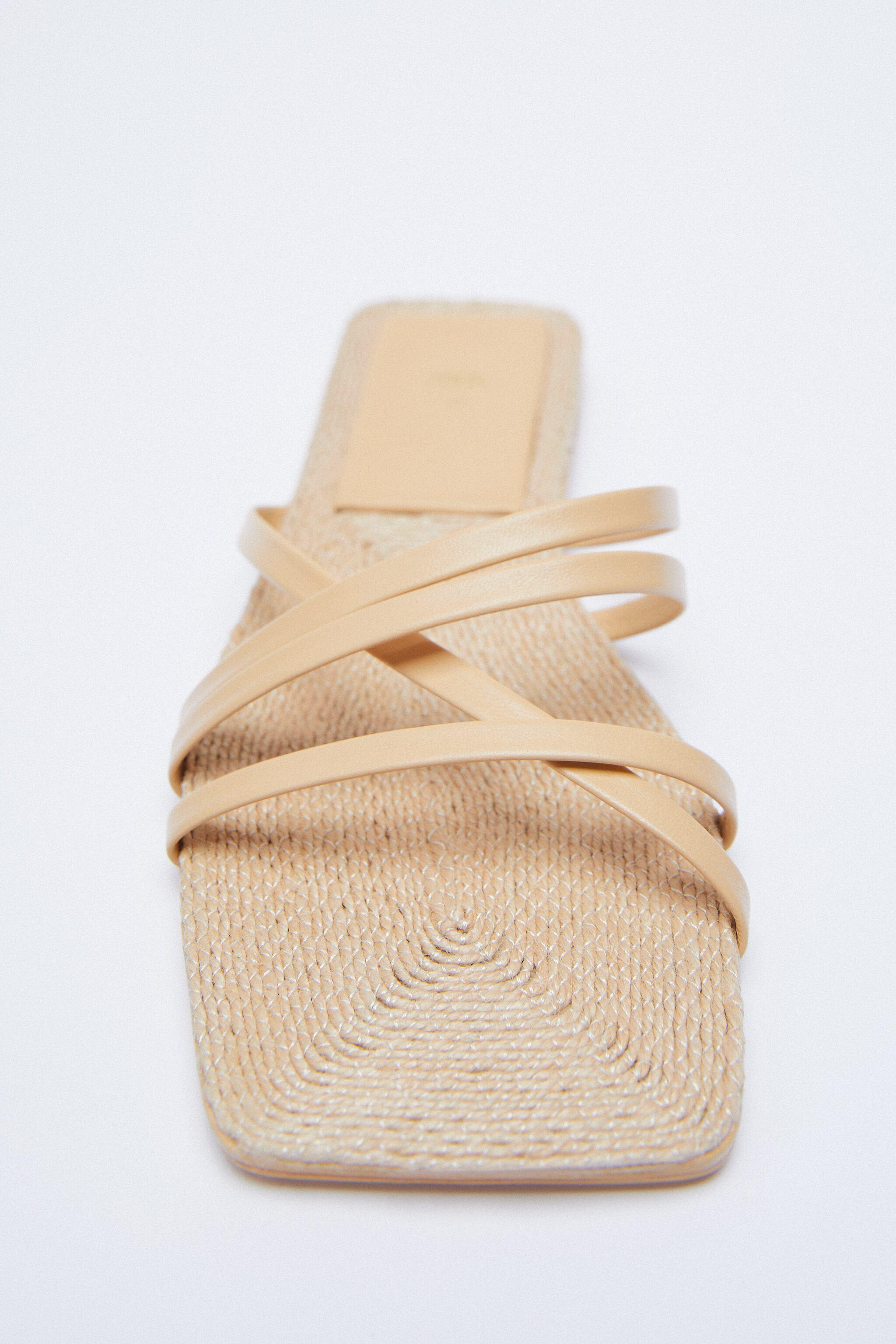 LOW HEEL LEATHER SANDALS WITH JUTE INSOLE 4
