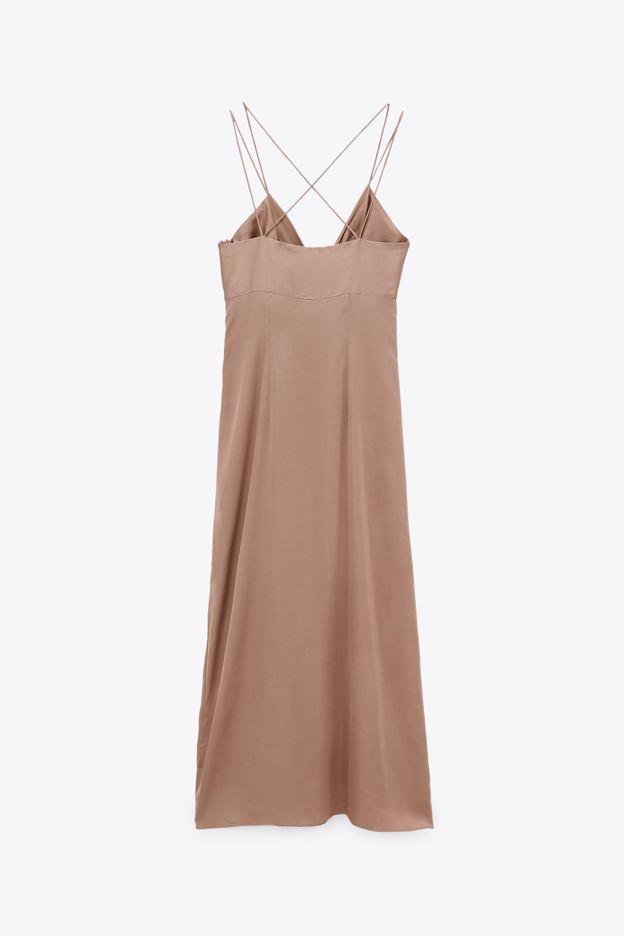 KNOTTED SLIP DRESS 5