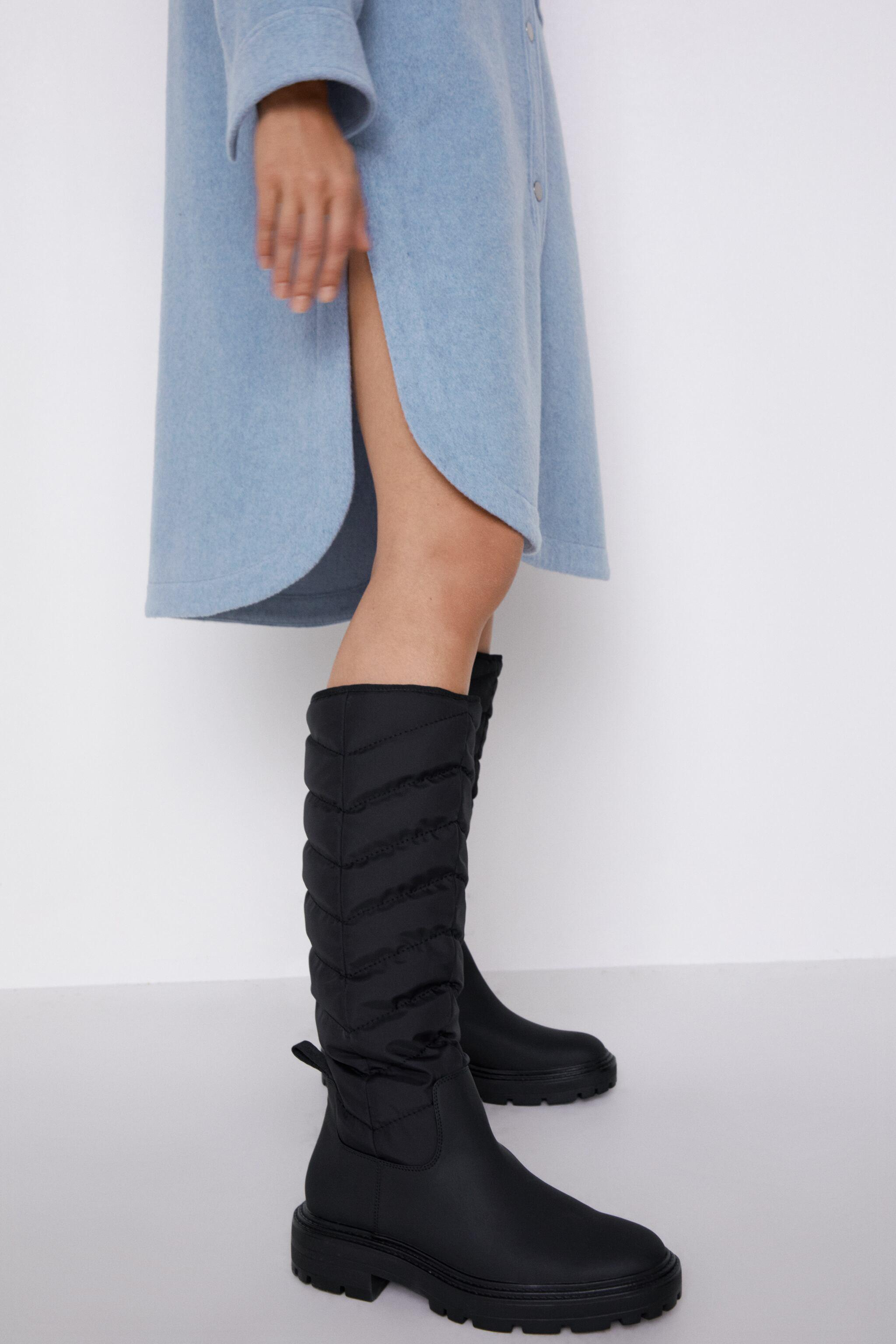 LOW HEEL QUILTED TALL BOOTS 5
