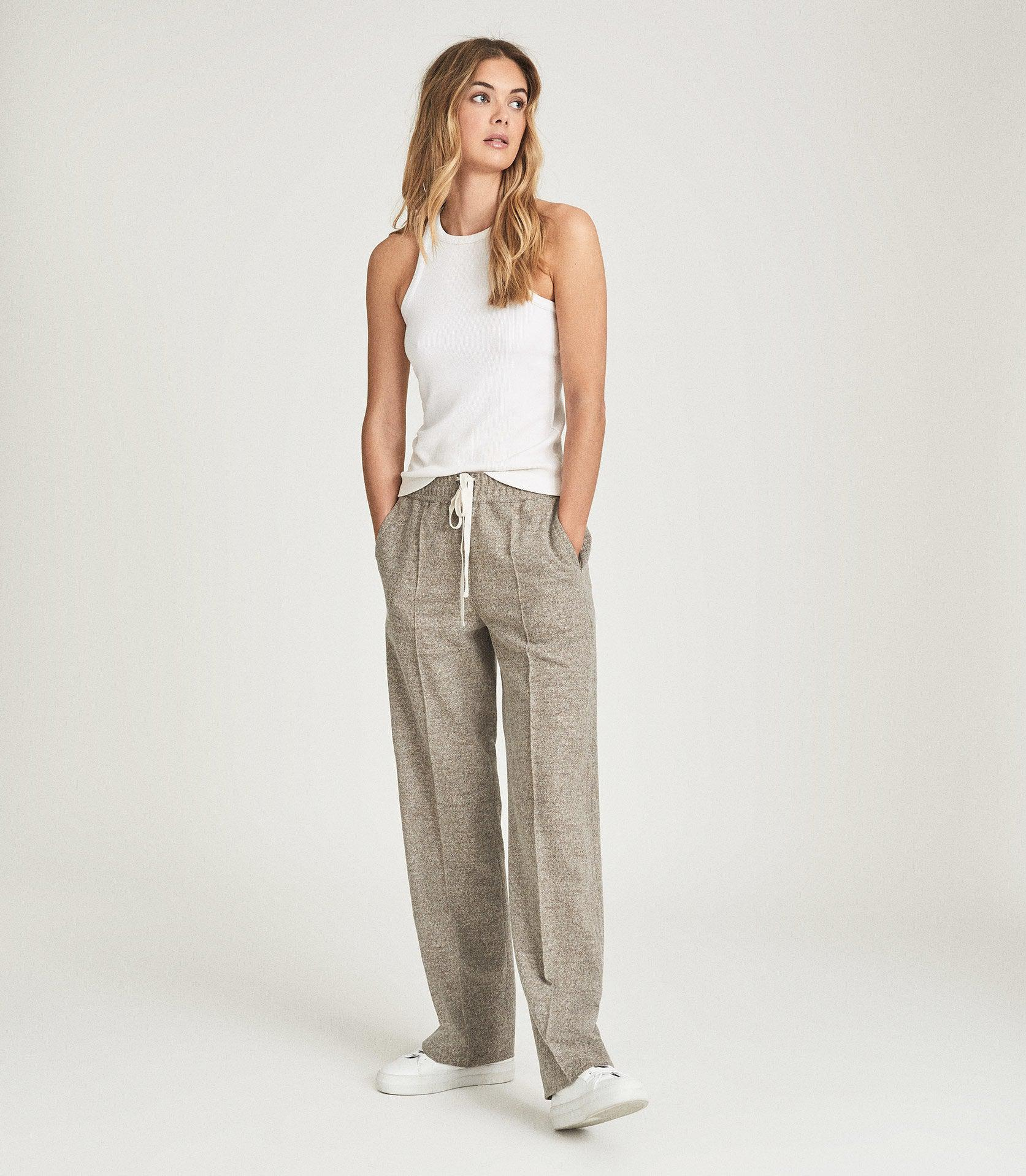JOEY - TEXTURED WIDE LEG TROUSERS