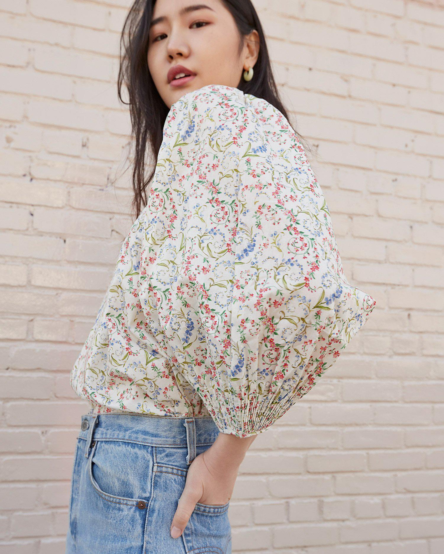 Lucia Romance Floral Smocked Blouse 1