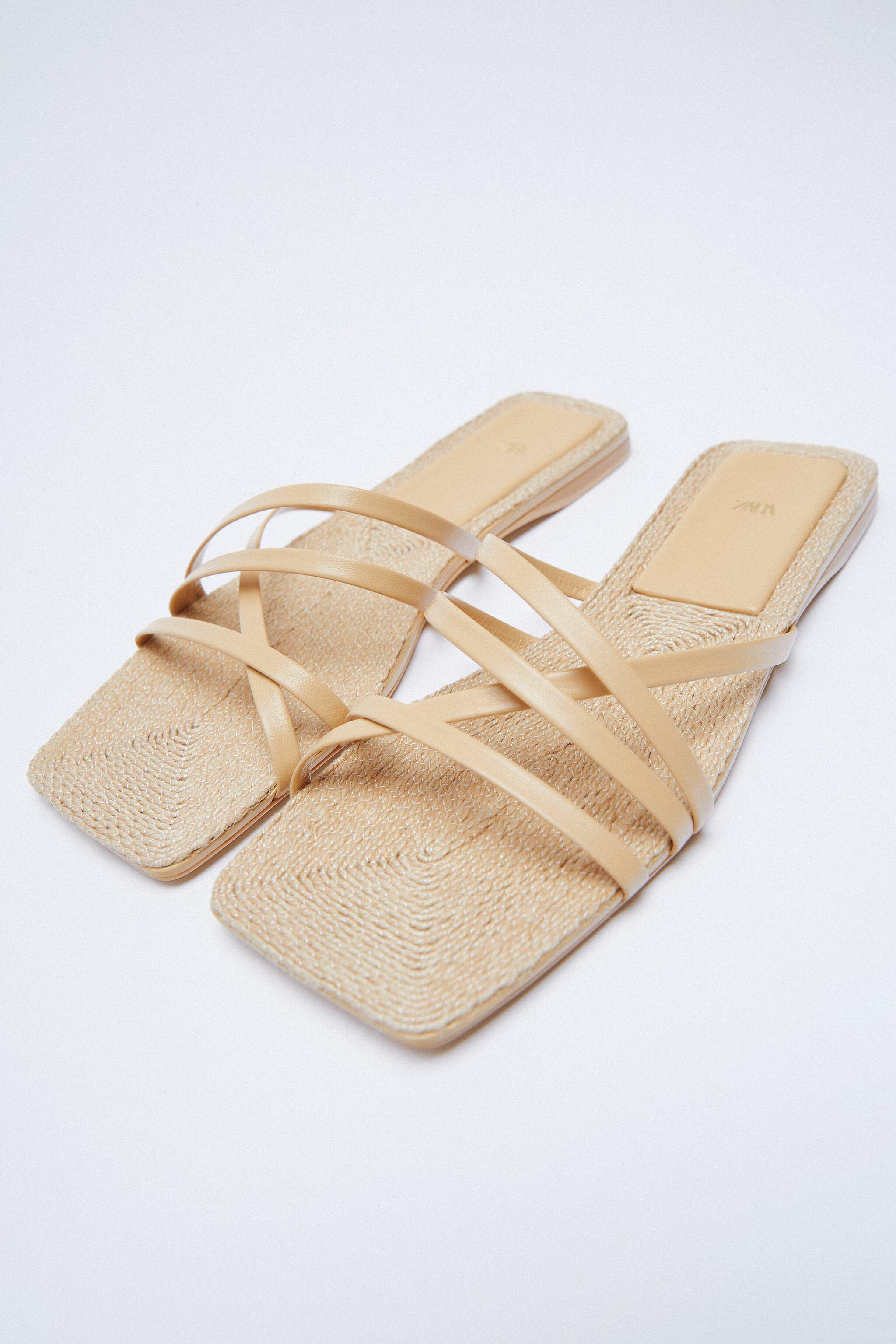 LOW HEEL LEATHER SANDALS WITH JUTE INSOLE 5