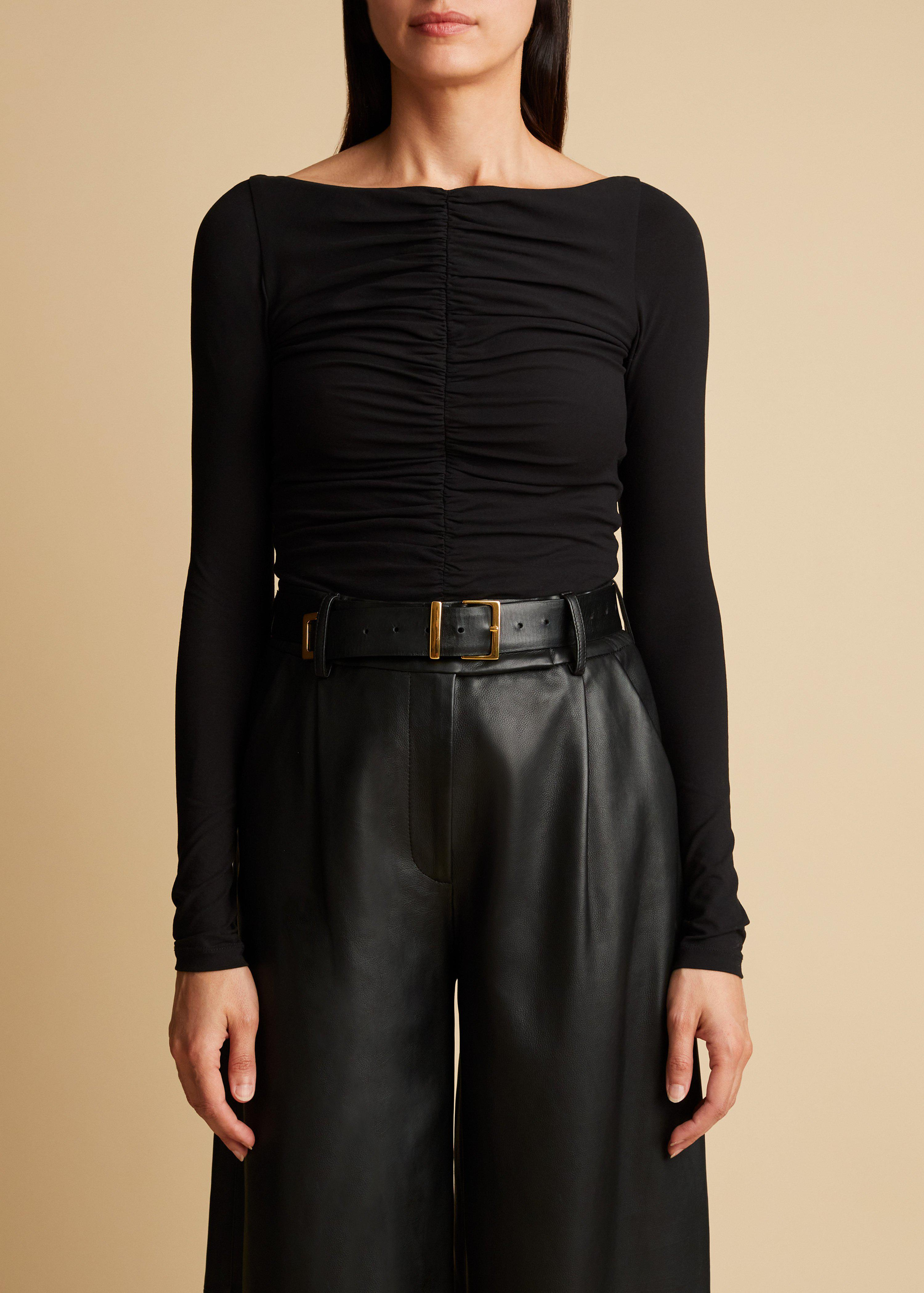 The Lance Top in Black