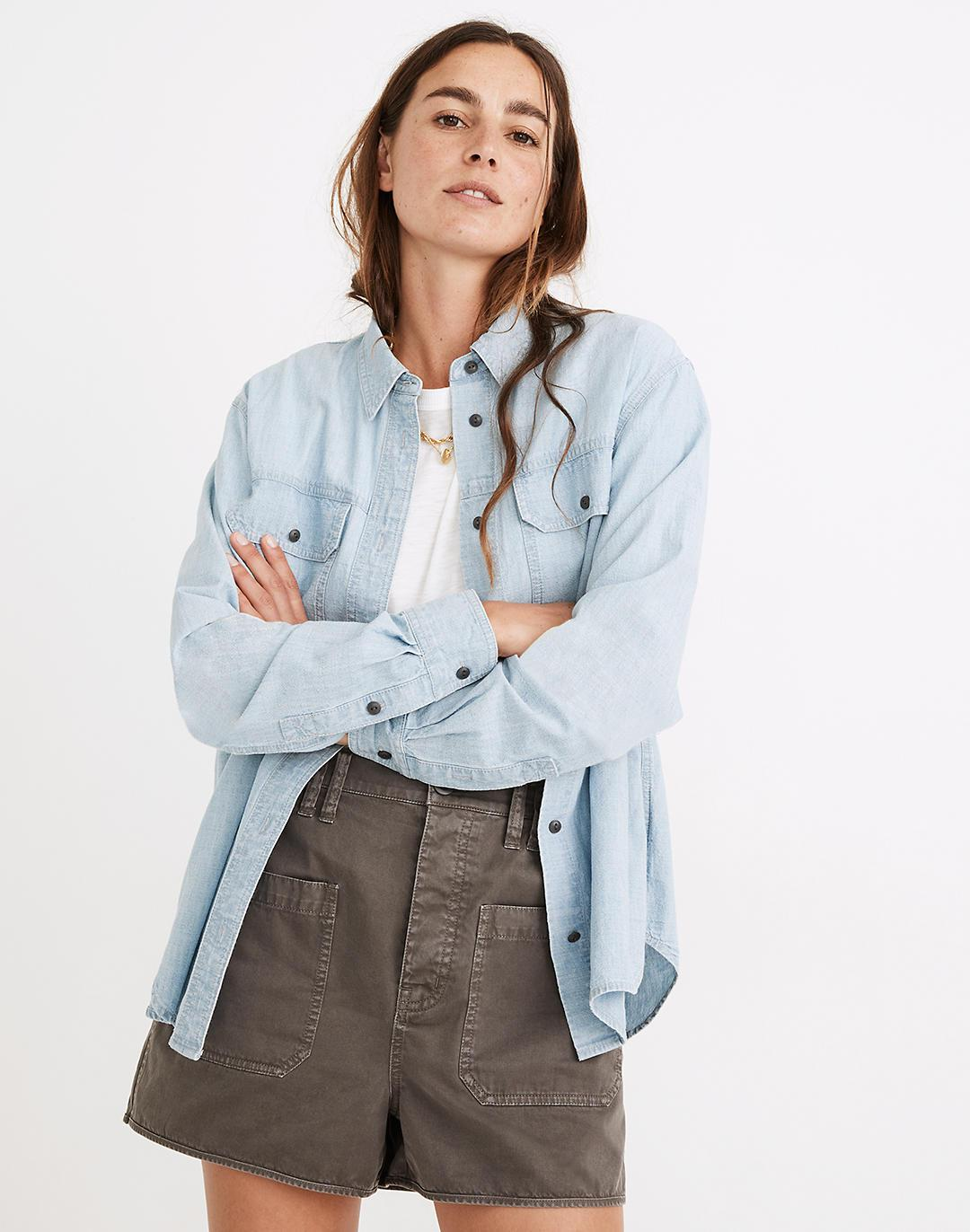 Chambray Button-Up Workshirt