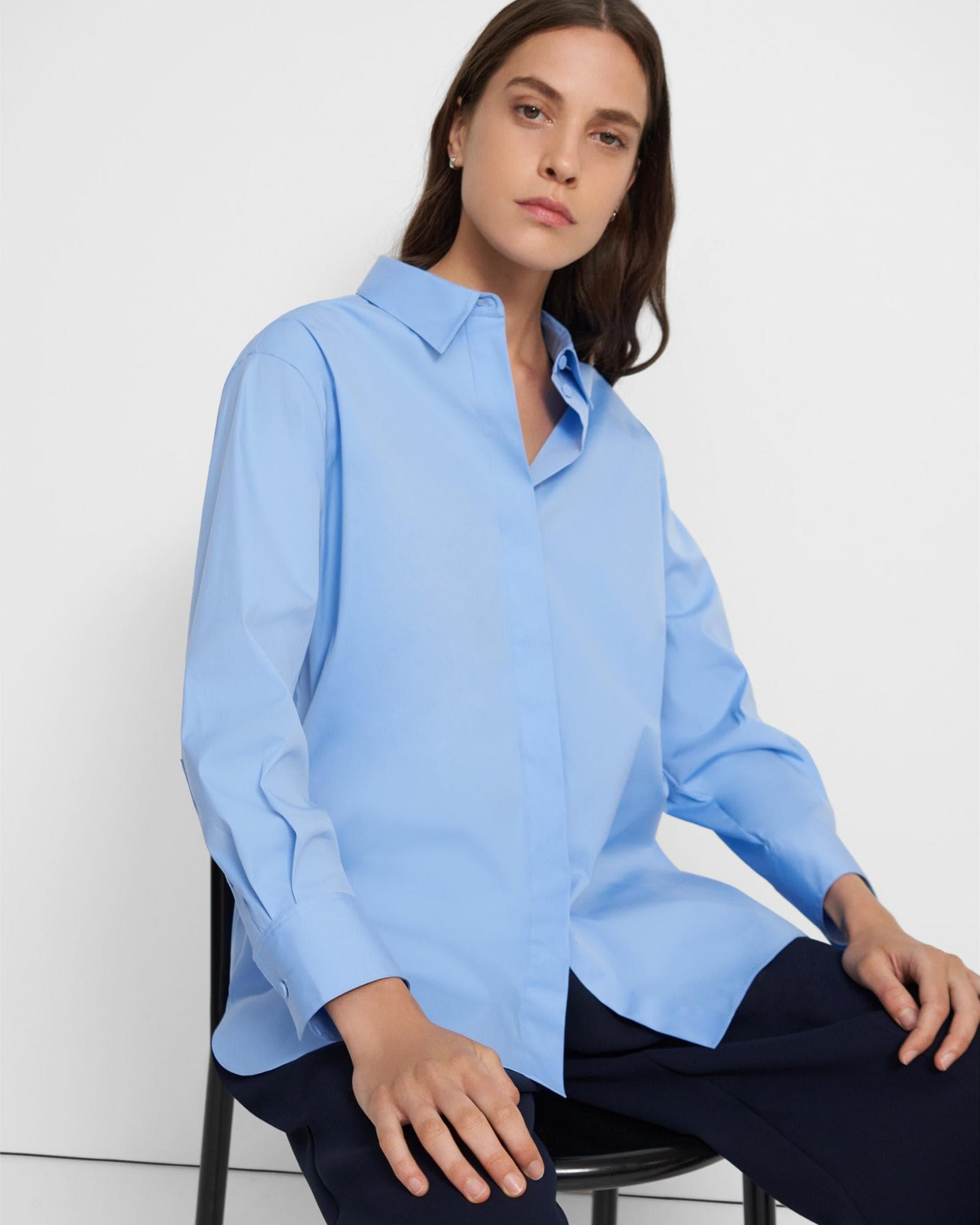 Button-Up Shirt in Good Cotton