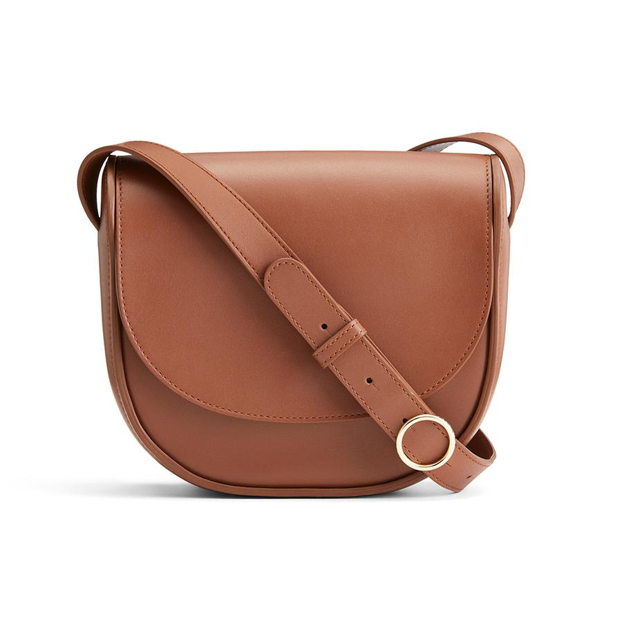Women's Modern Saddle Bag in Chestnut   Smooth Leather by Cuyana