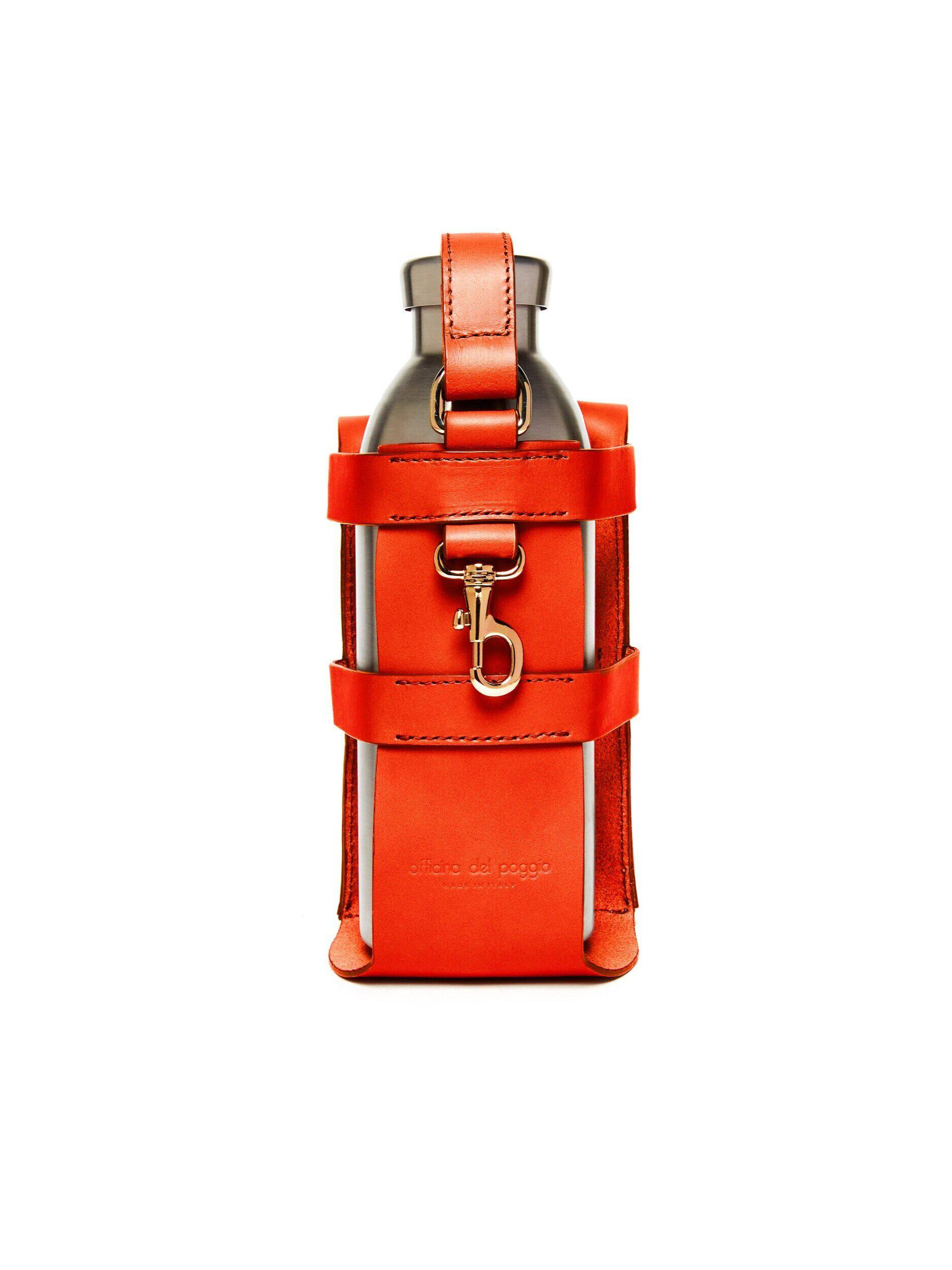 Bottle Bag with Bottle - Fiamma Leather 2