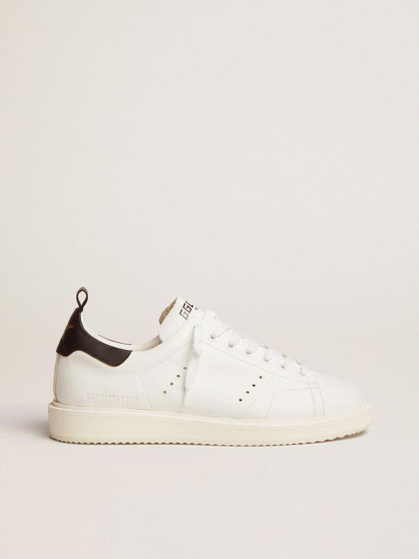 Starter sneakers in leather with black heel tab