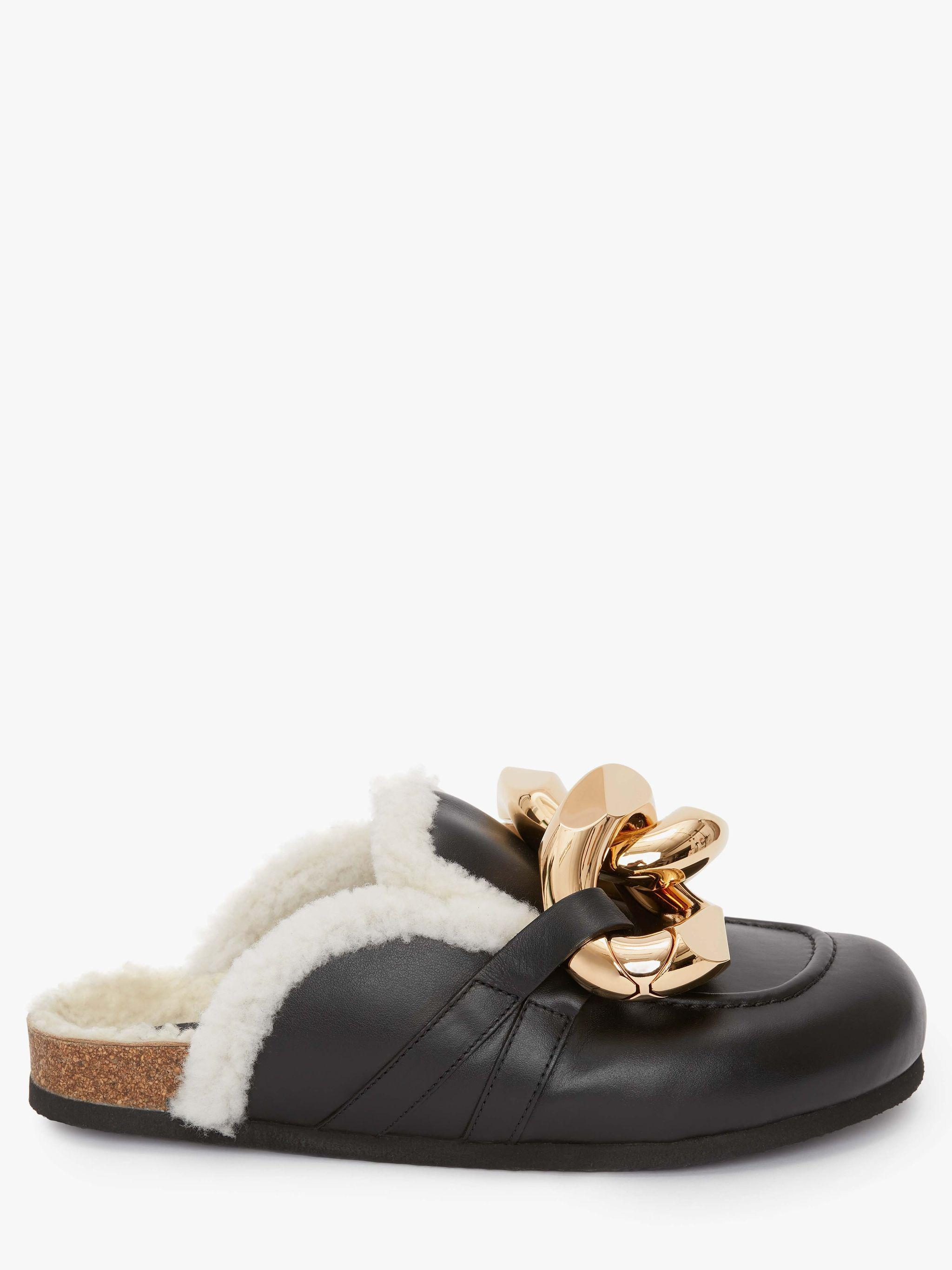 WOMEN'S SHEARLING CHAIN LOAFER