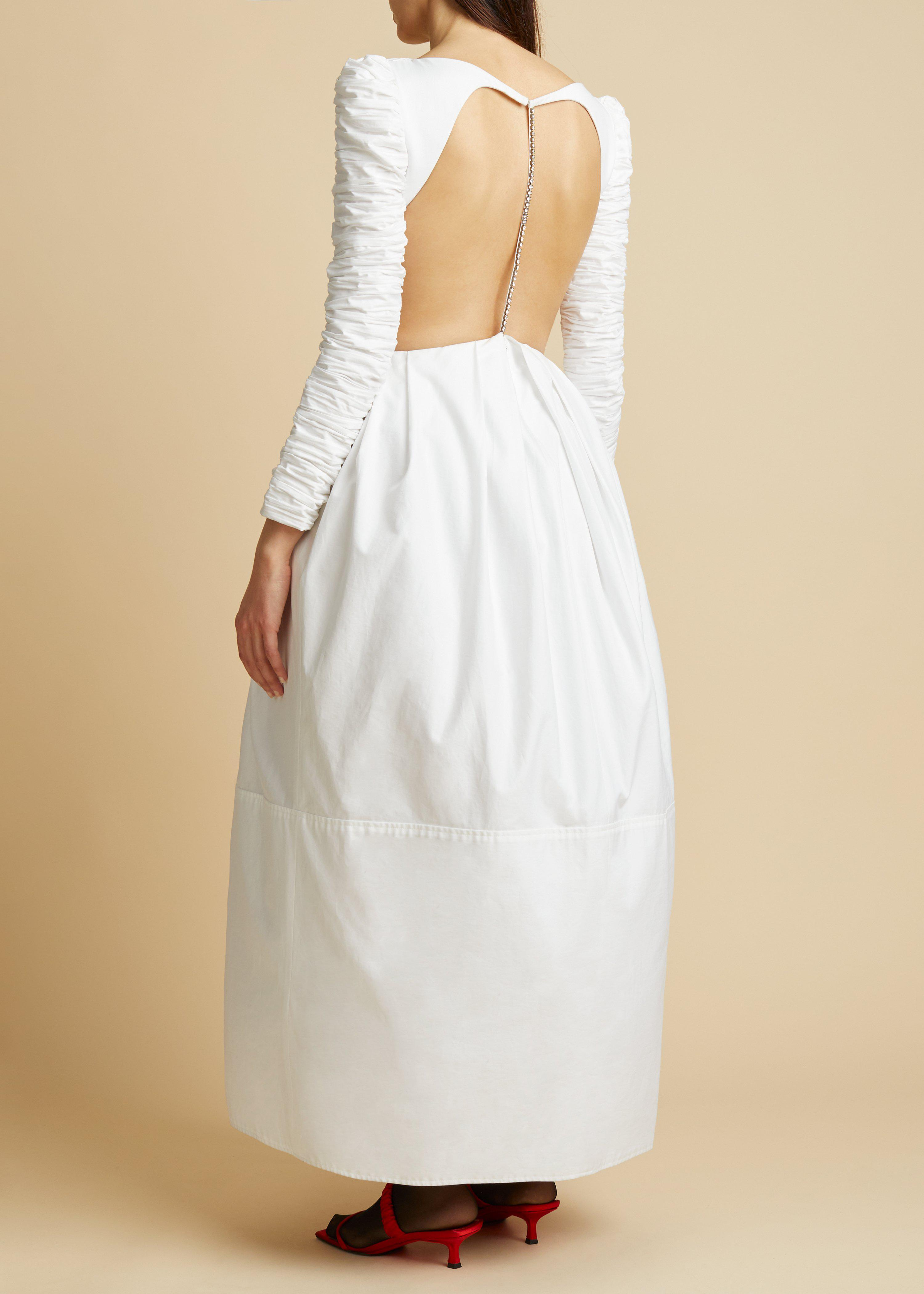 The Rosaline Dress with Petticoat in White 2