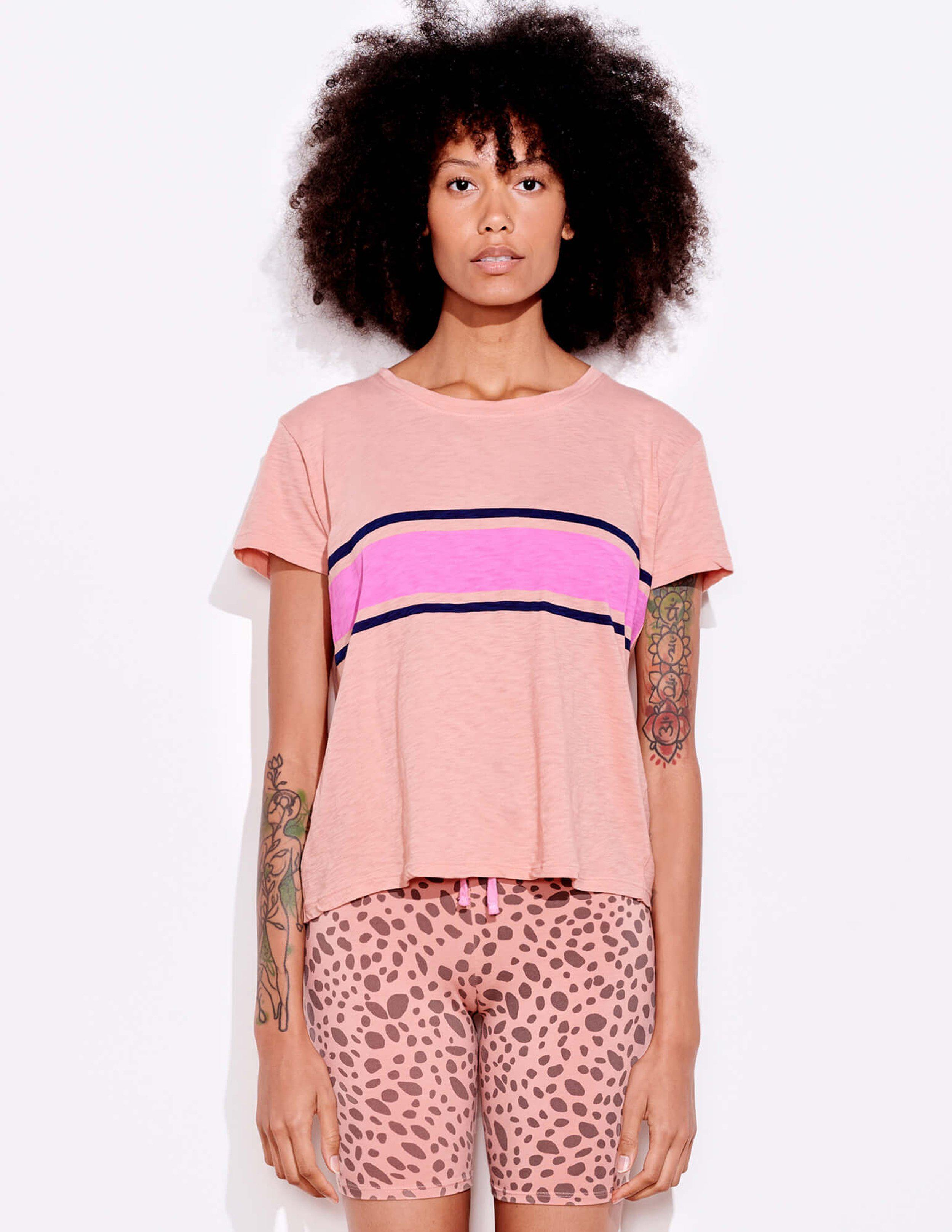 Two Color Stripes Vintage Tee