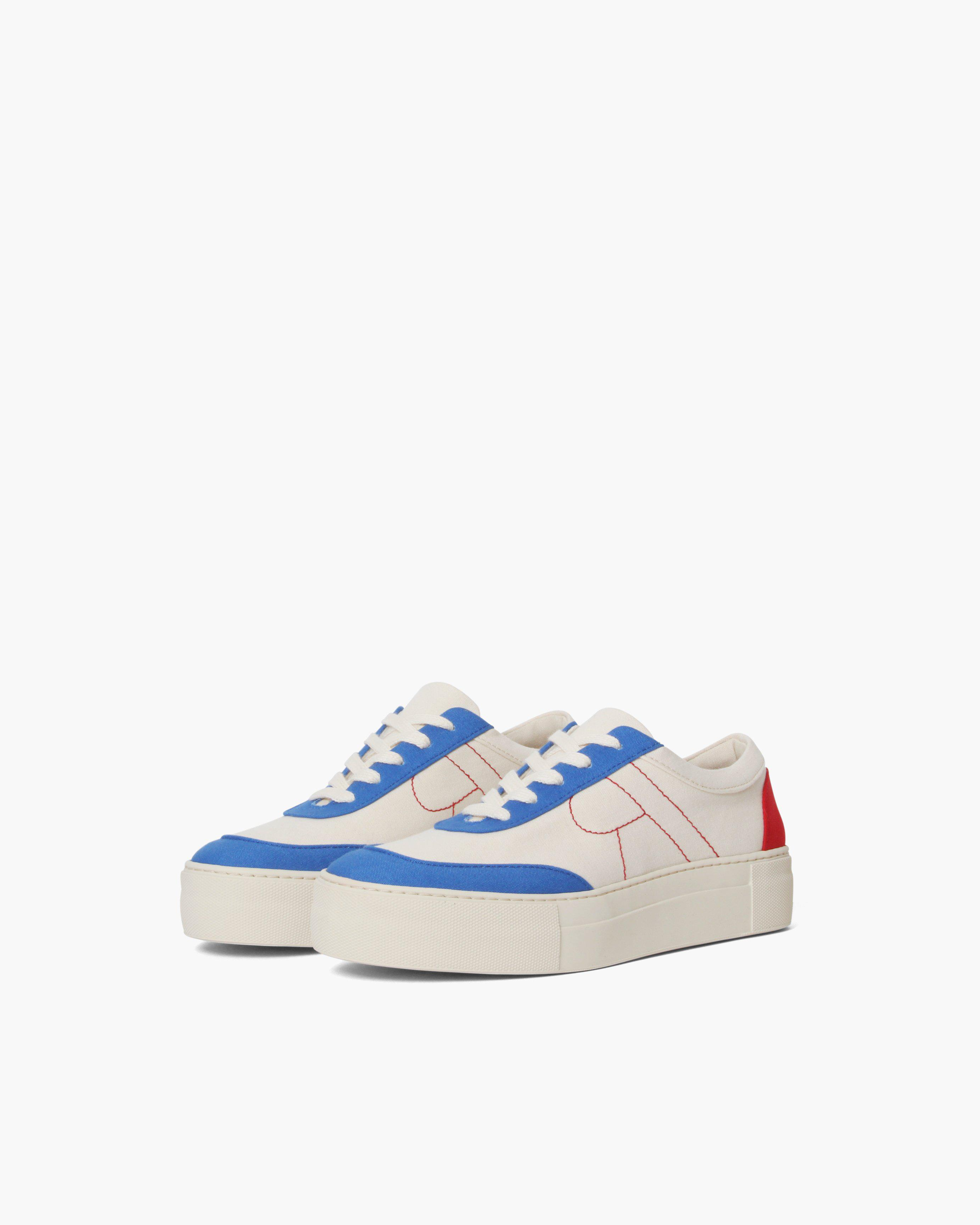 Bailey Sneakers Cotton Canvas Blue + Red - SALE 1