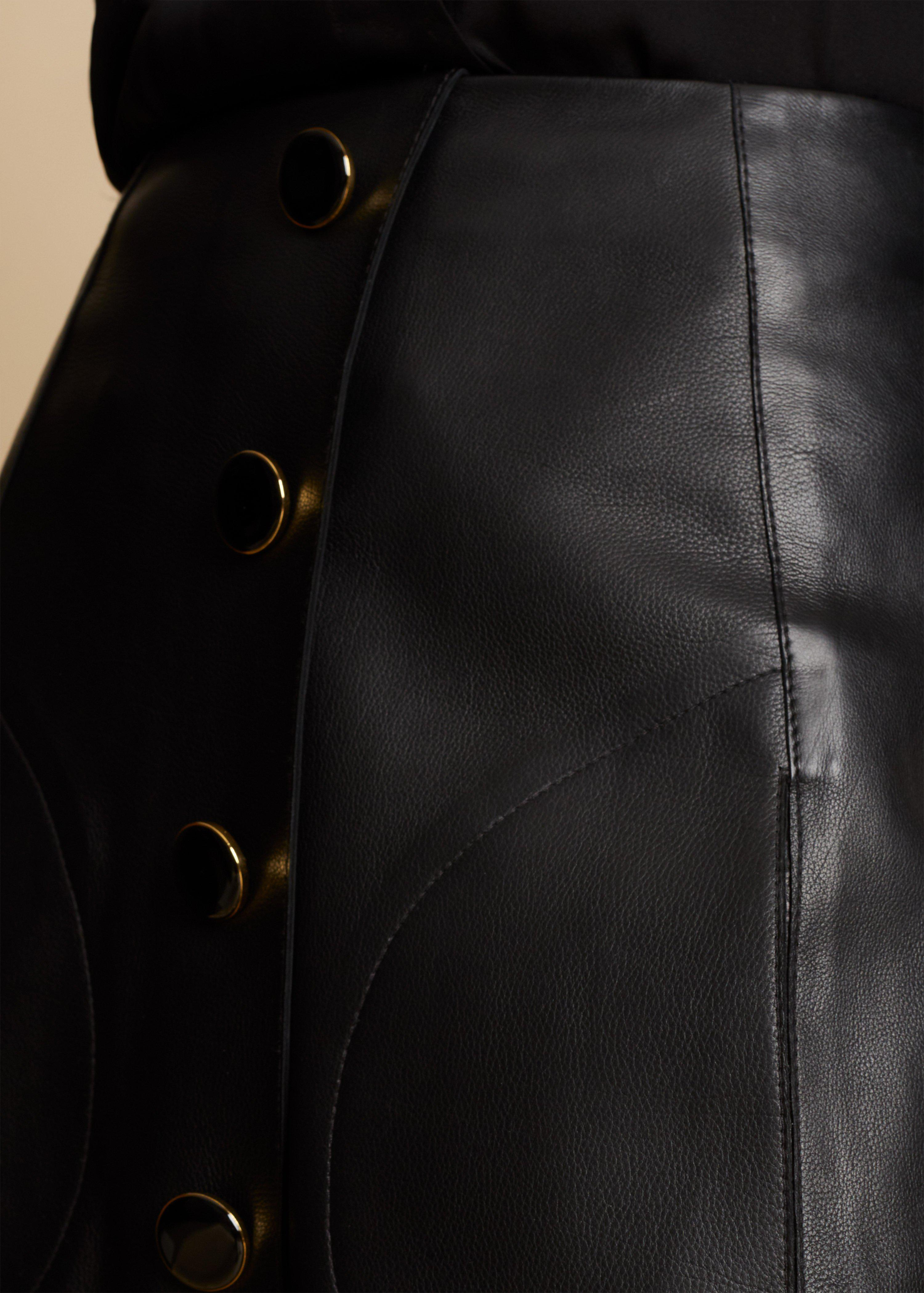 The Sam Skirt in Black Leather 5