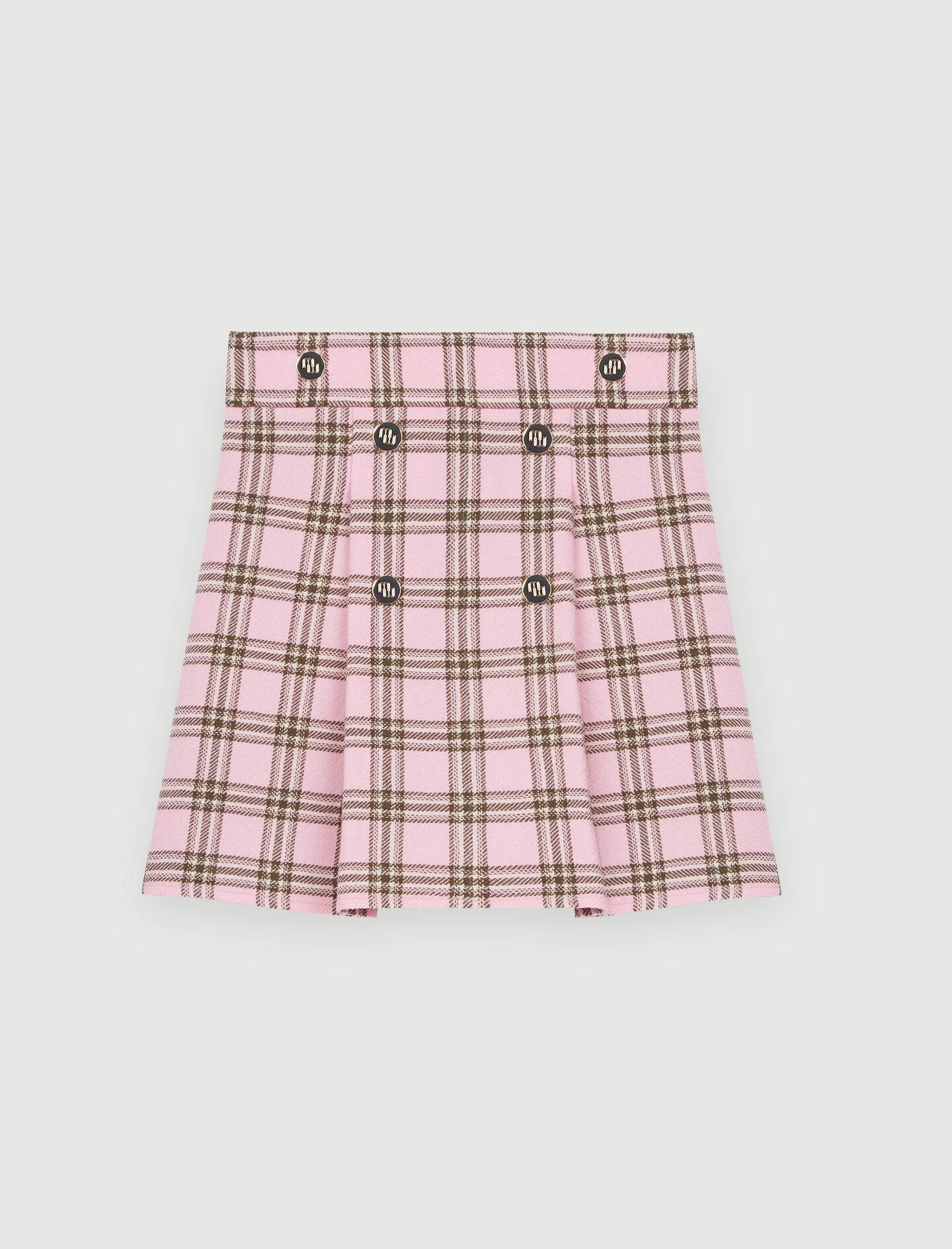 CHECKED PLEATED SKIRT 5