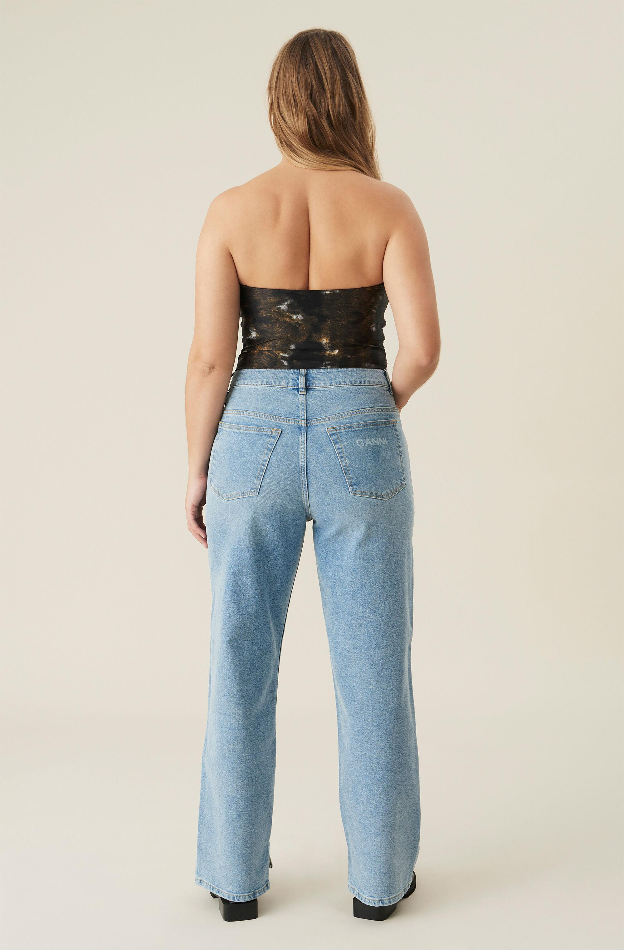 High-Rise Straight Stretch Jeans 1