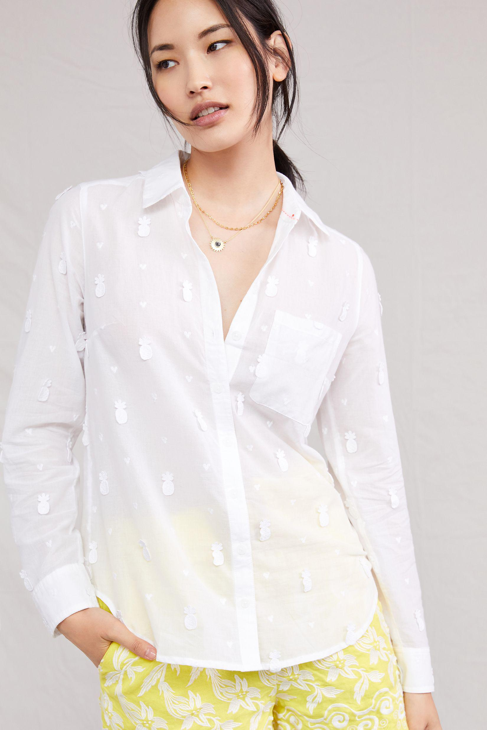 Maeve Classic Embroidered Buttondown 1