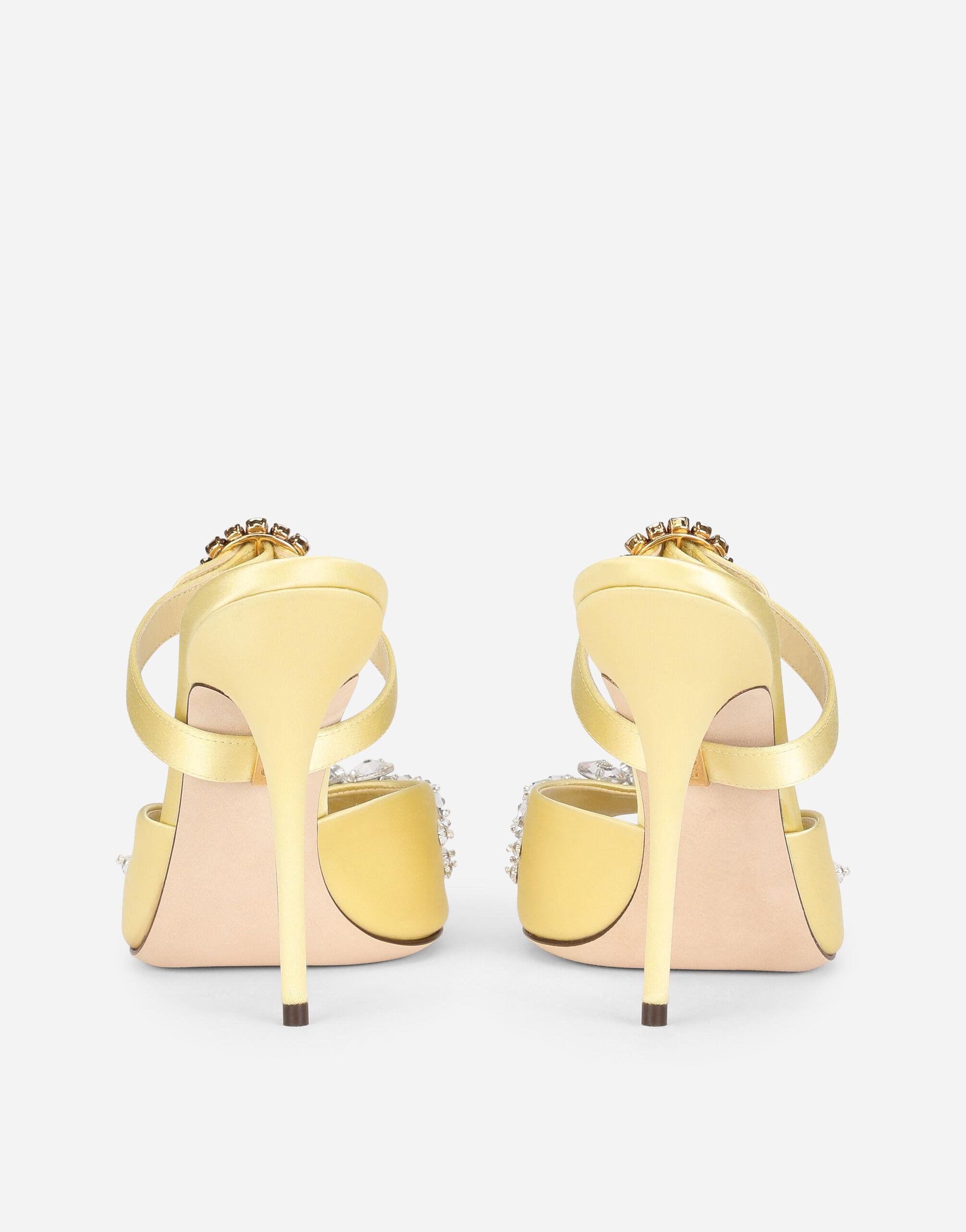 Satin mules with bejeweled embellishment 2