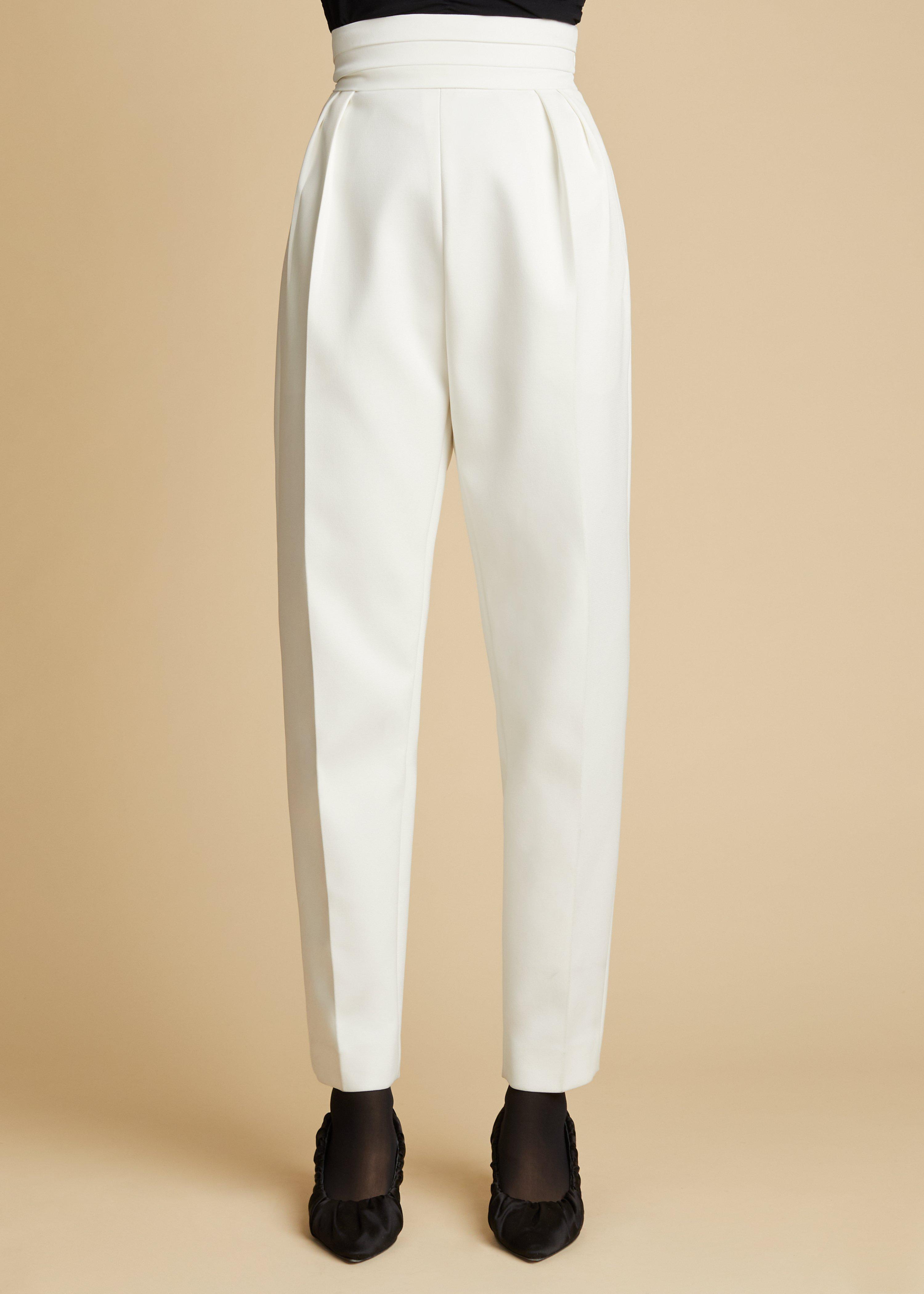 The Connelly Pant in Ivory 1