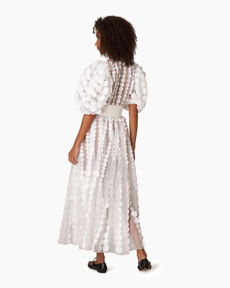 Puff Sleeve Embroidered Maxi Dress 1