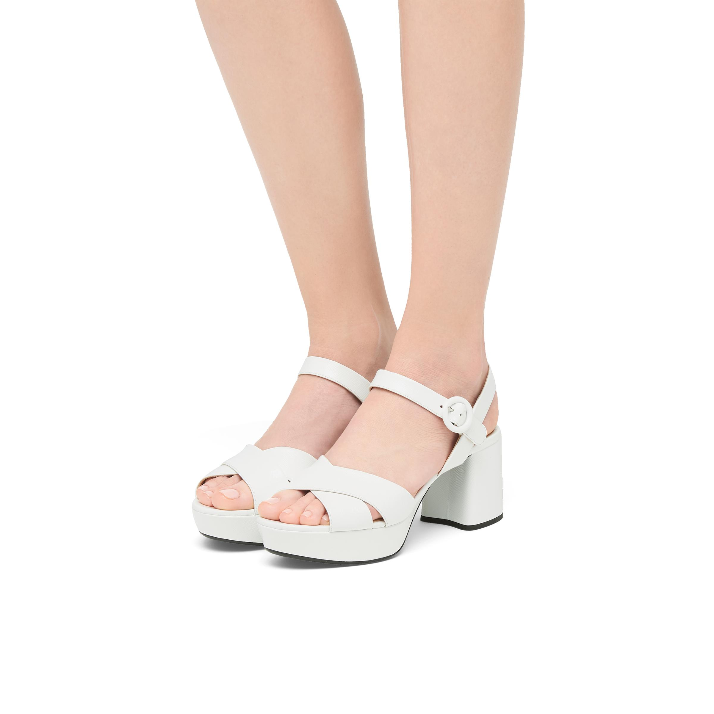 Patent Leather Sandals Women White 4