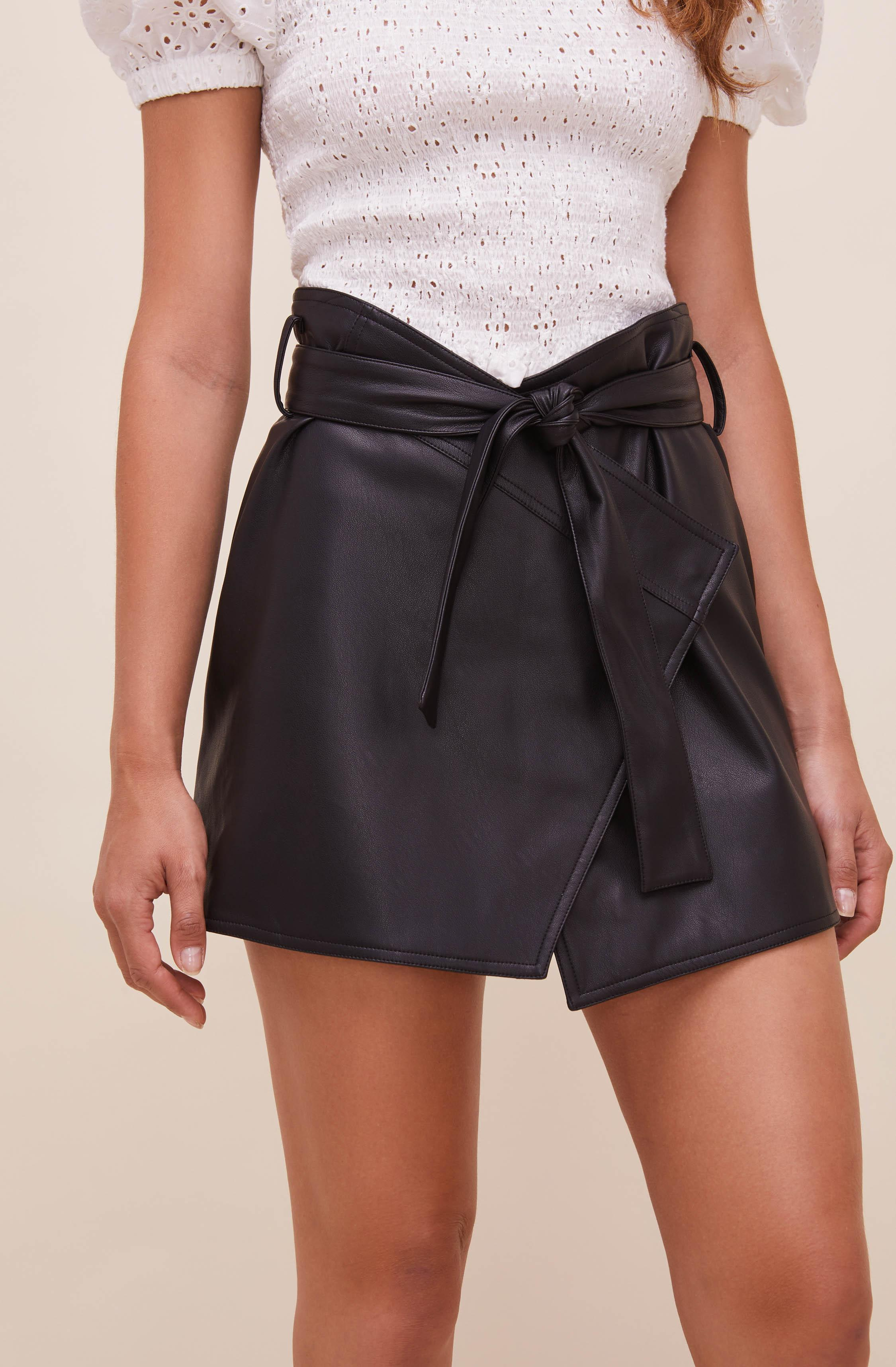 Briar Faux Leather Skirt 1