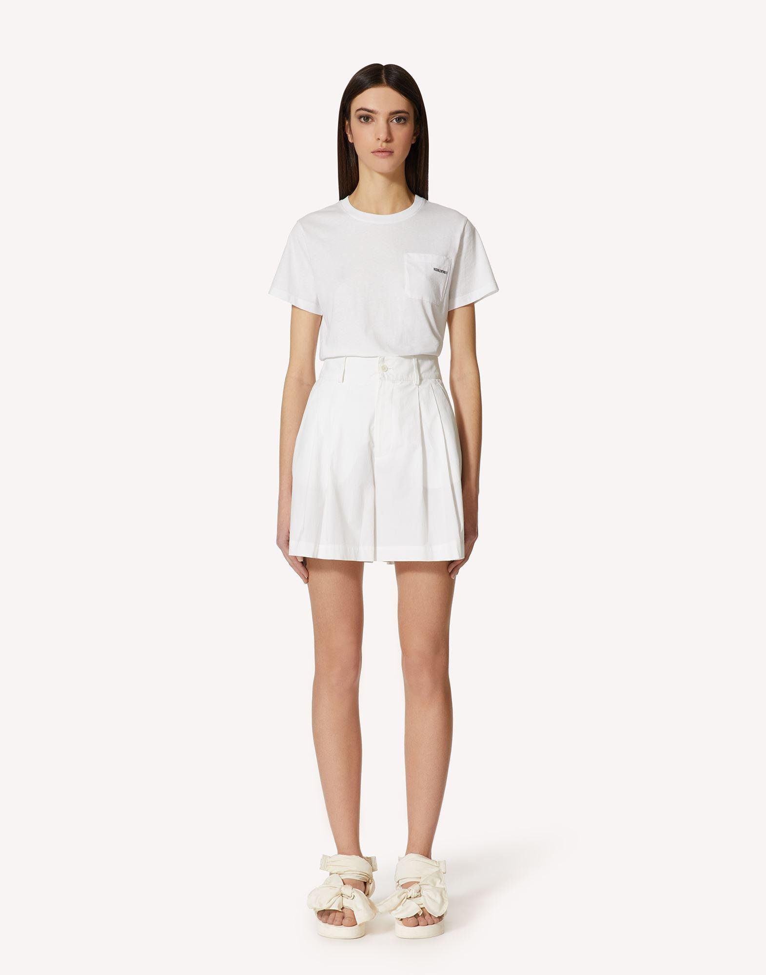 T-SHIRT WITH REDVALENTINO EMBROIDERY