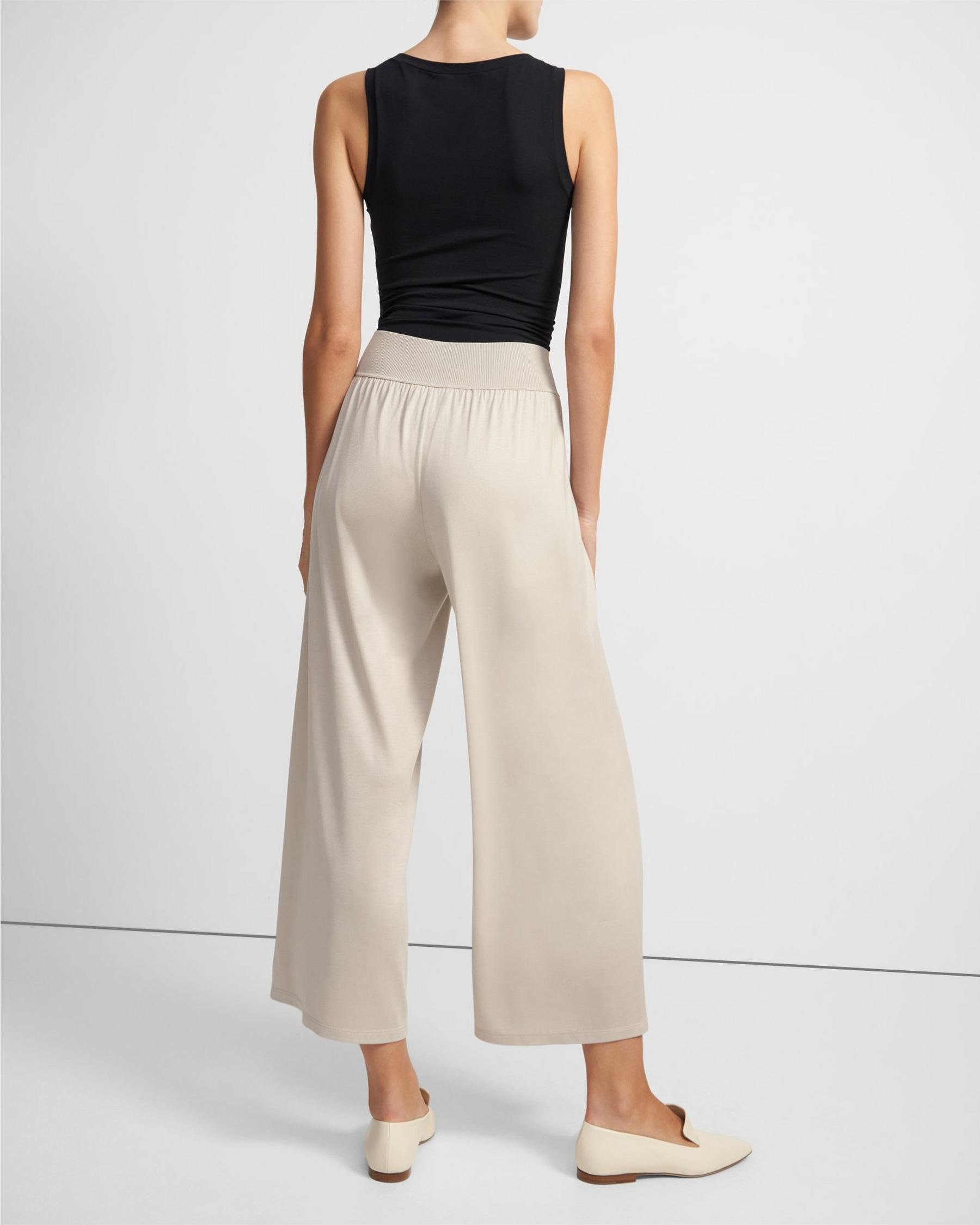Ribbed Waist Pant in Silk Jersey 2