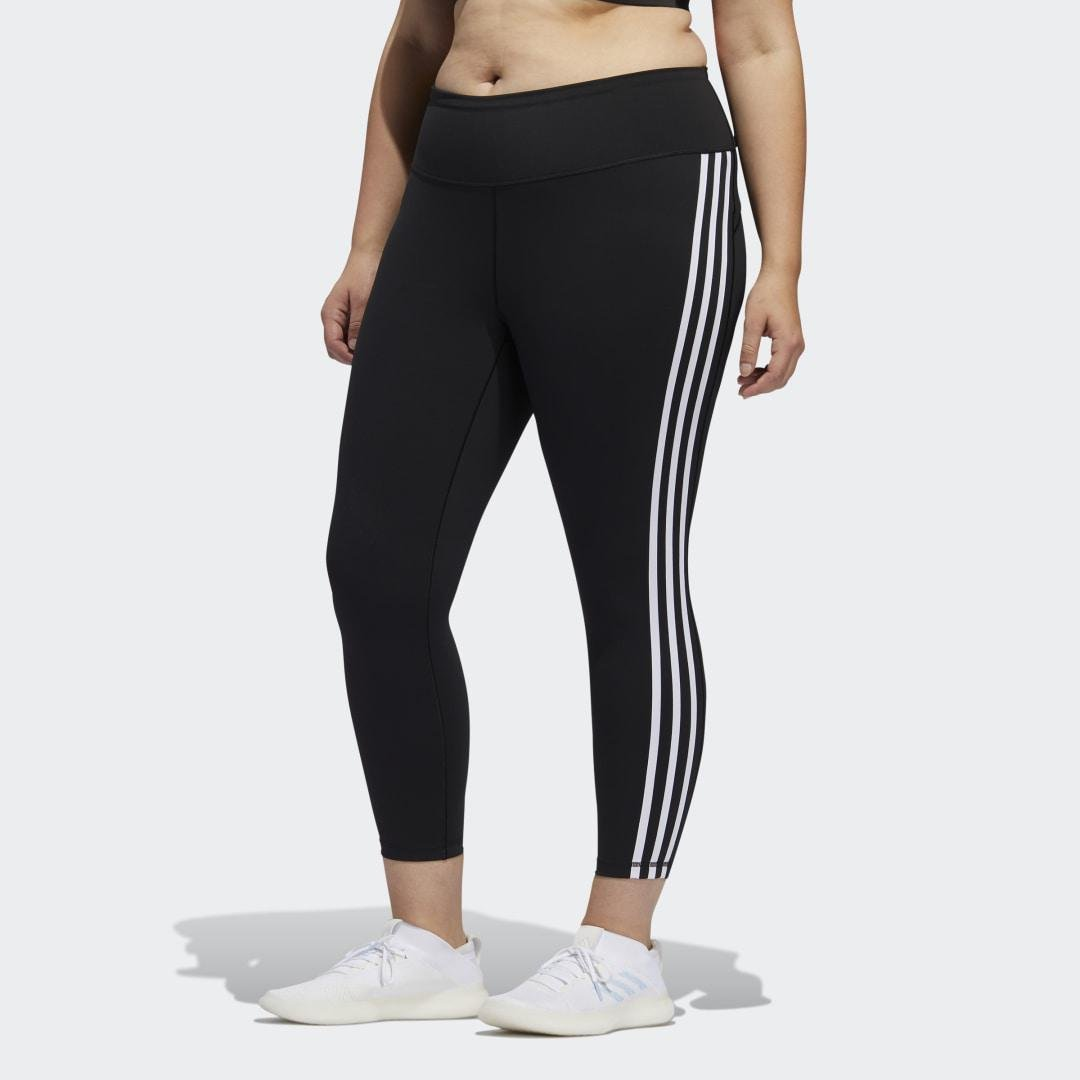 Believe This 3-Stripes 7/8 Tights (Plus Size) Black