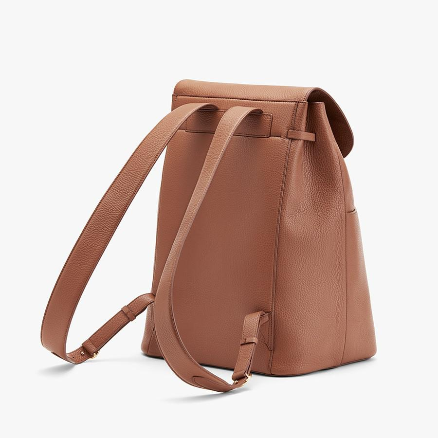 Women's Large Leather Backpack in Caramel | Pebbled Leather by Cuyana 4