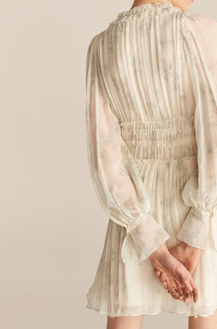 LONG SLEEVE TOILE RUCHED DRESS 3