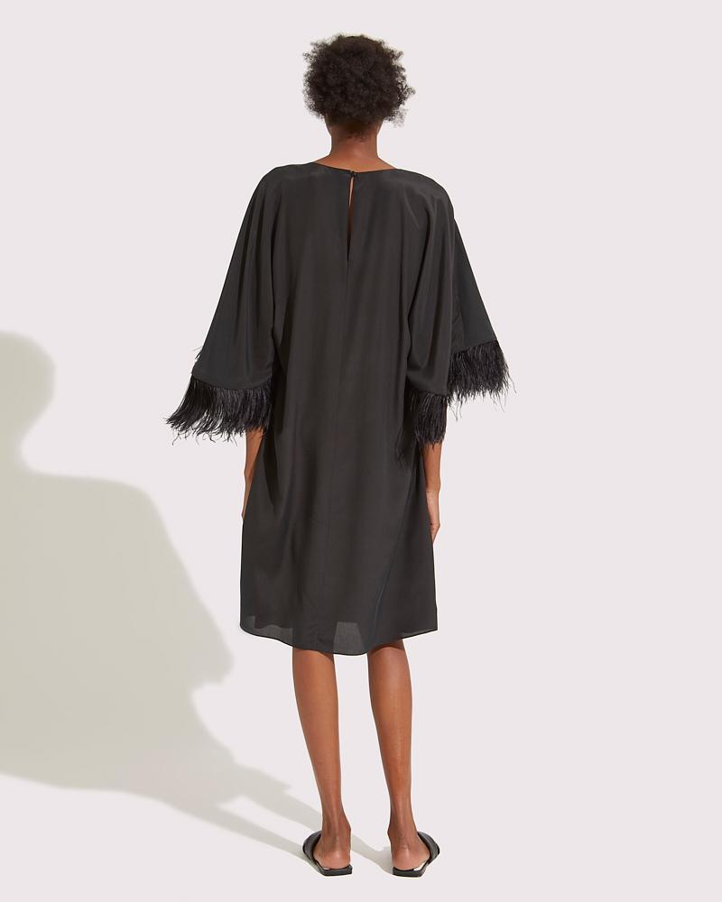 Midi dress with feathers 2