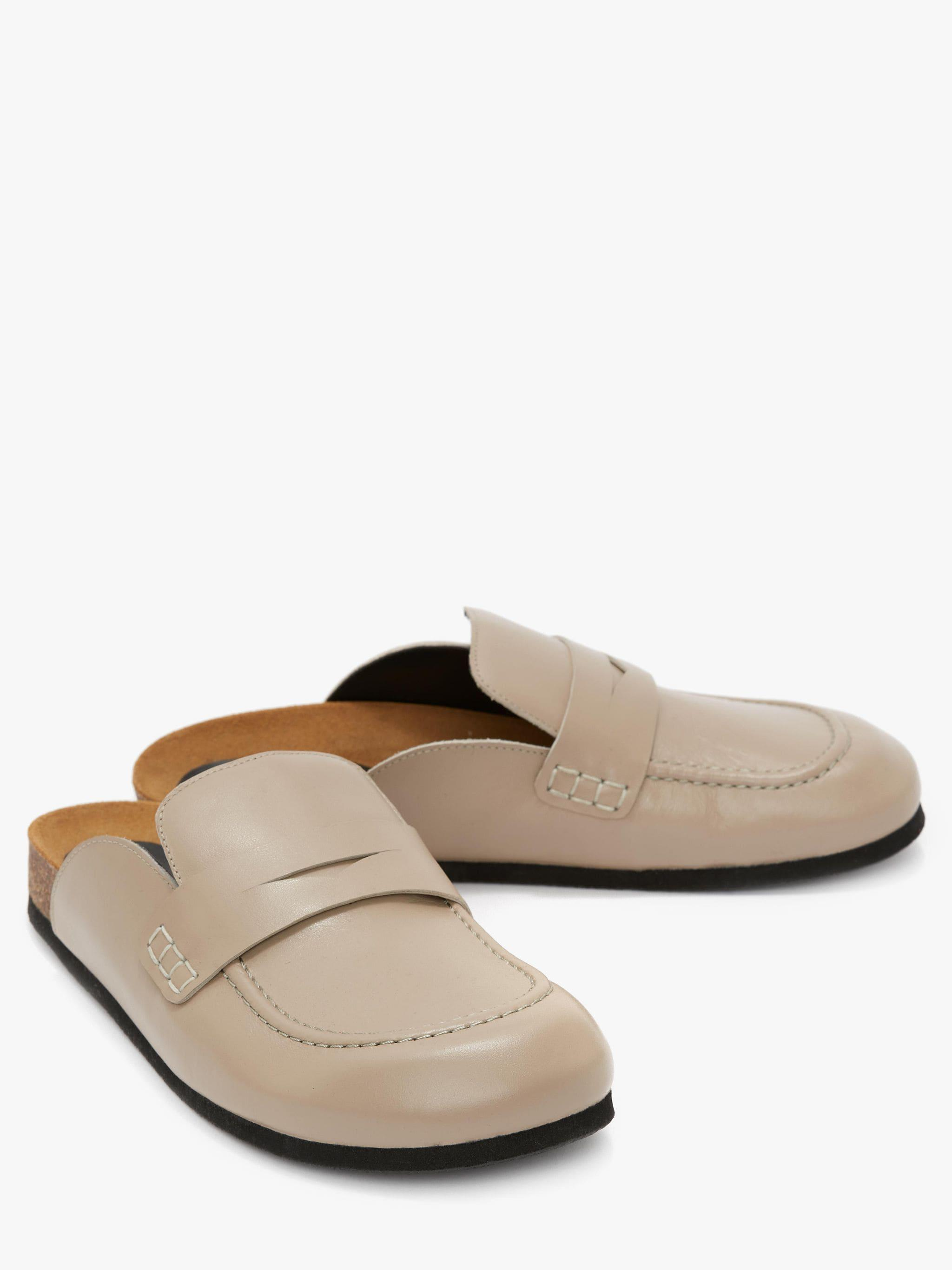 WOMEN'S LEATHER LOAFER MULES 1