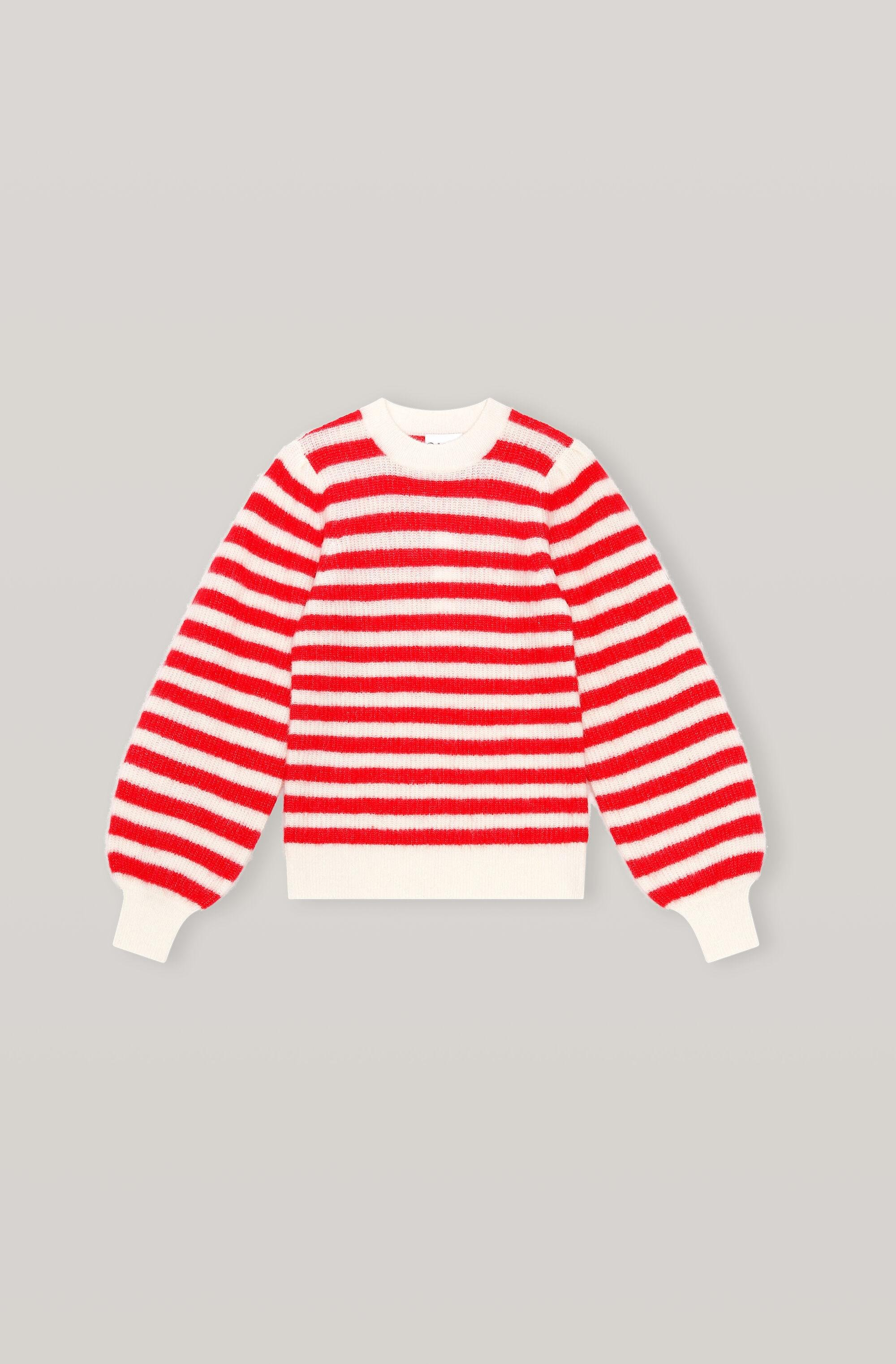 Soft Wool Knit Pullover - Striped