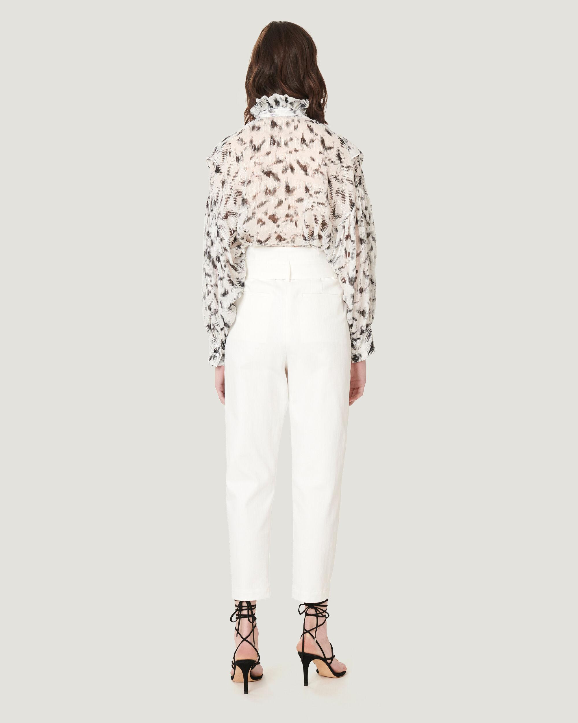 GARETTI CROPPED PAPERBAG TROUSERS 2