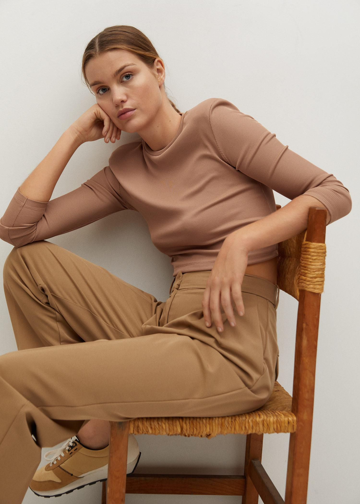 Long-sleeved cropped t-shirt 4