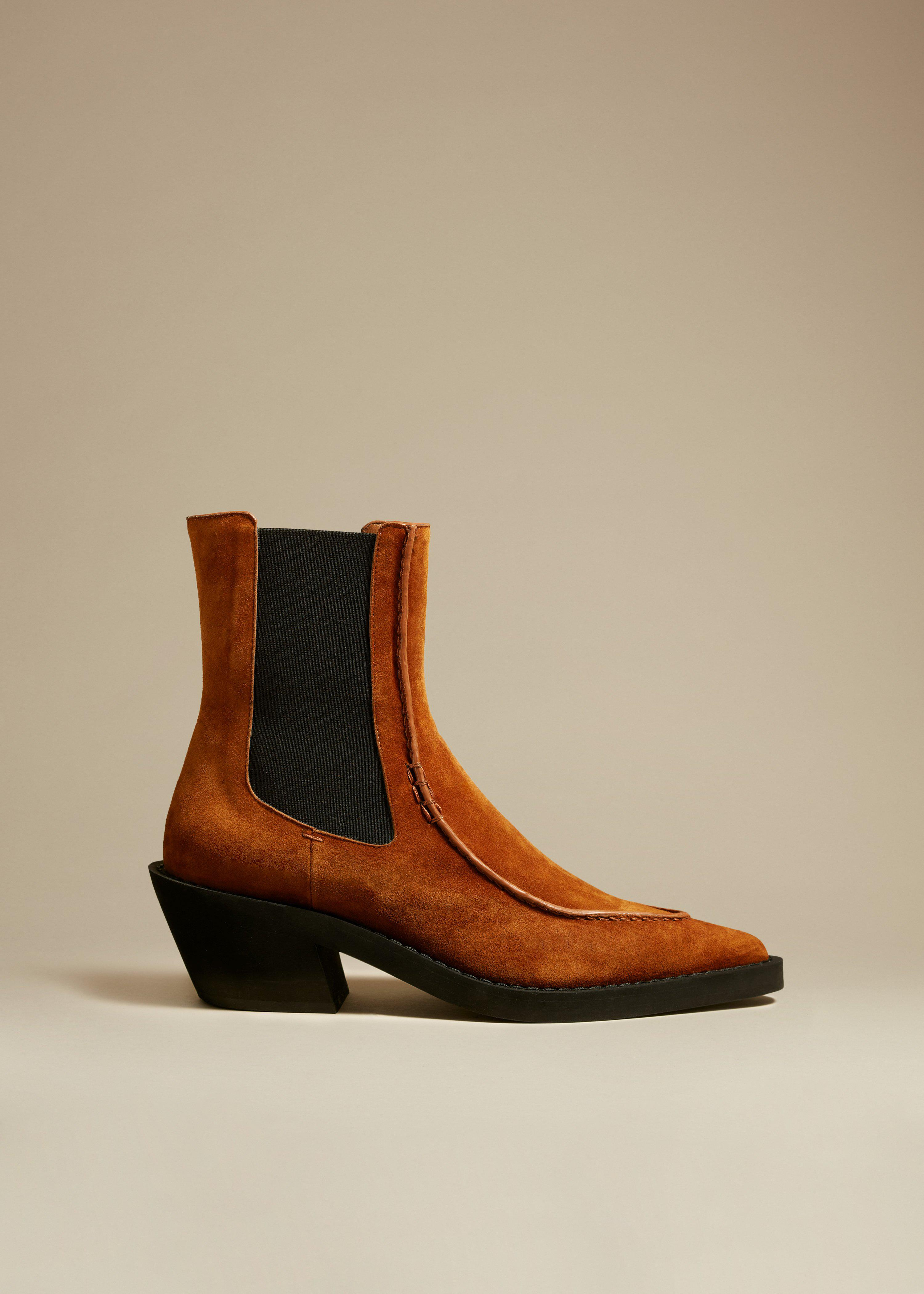 The Charleston Ankle Boot in Caramel Suede