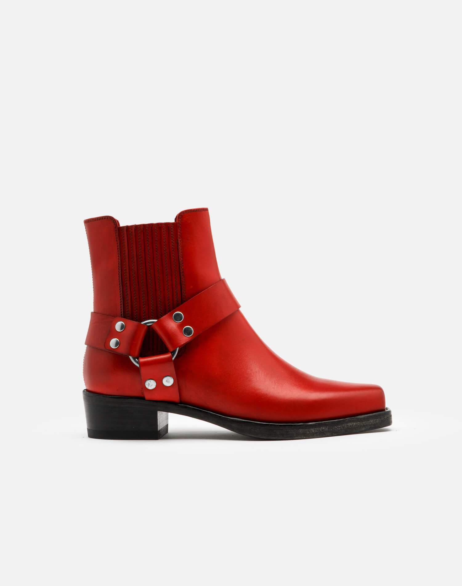 Cavalry Boot - Red Leather