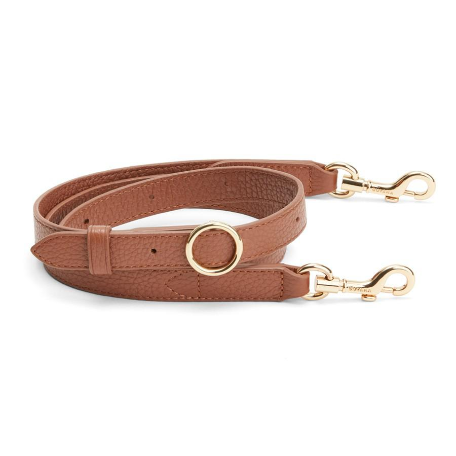 Women's Adjustable Strap in Caramel | Pebbled Leather by Cuyana