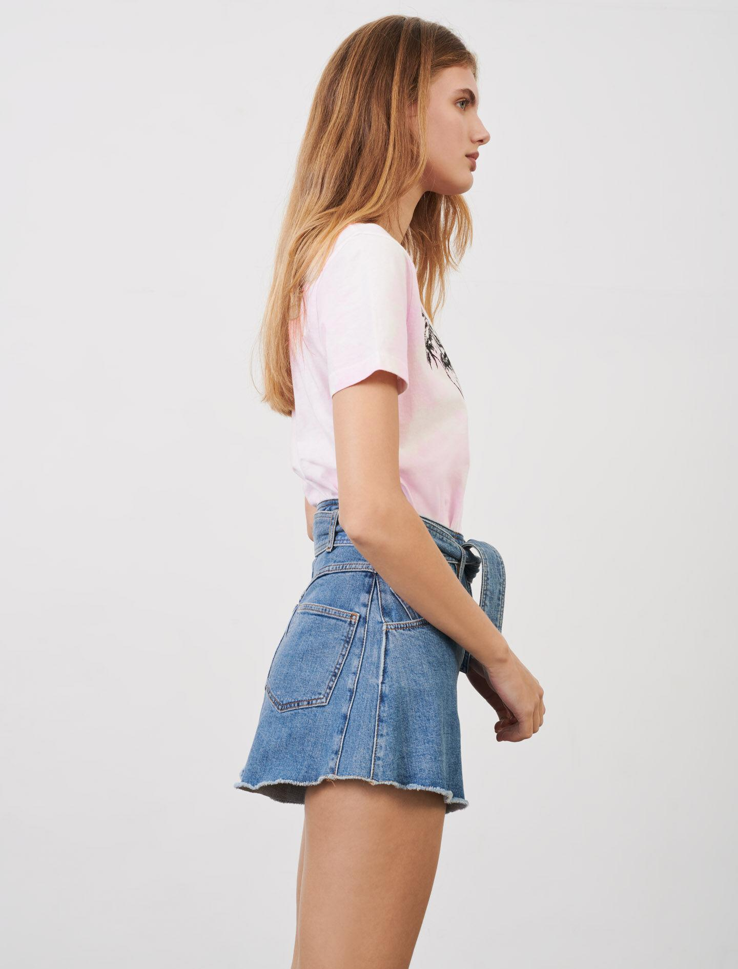 BELTED SKIRT-STYLE SHORTS 2
