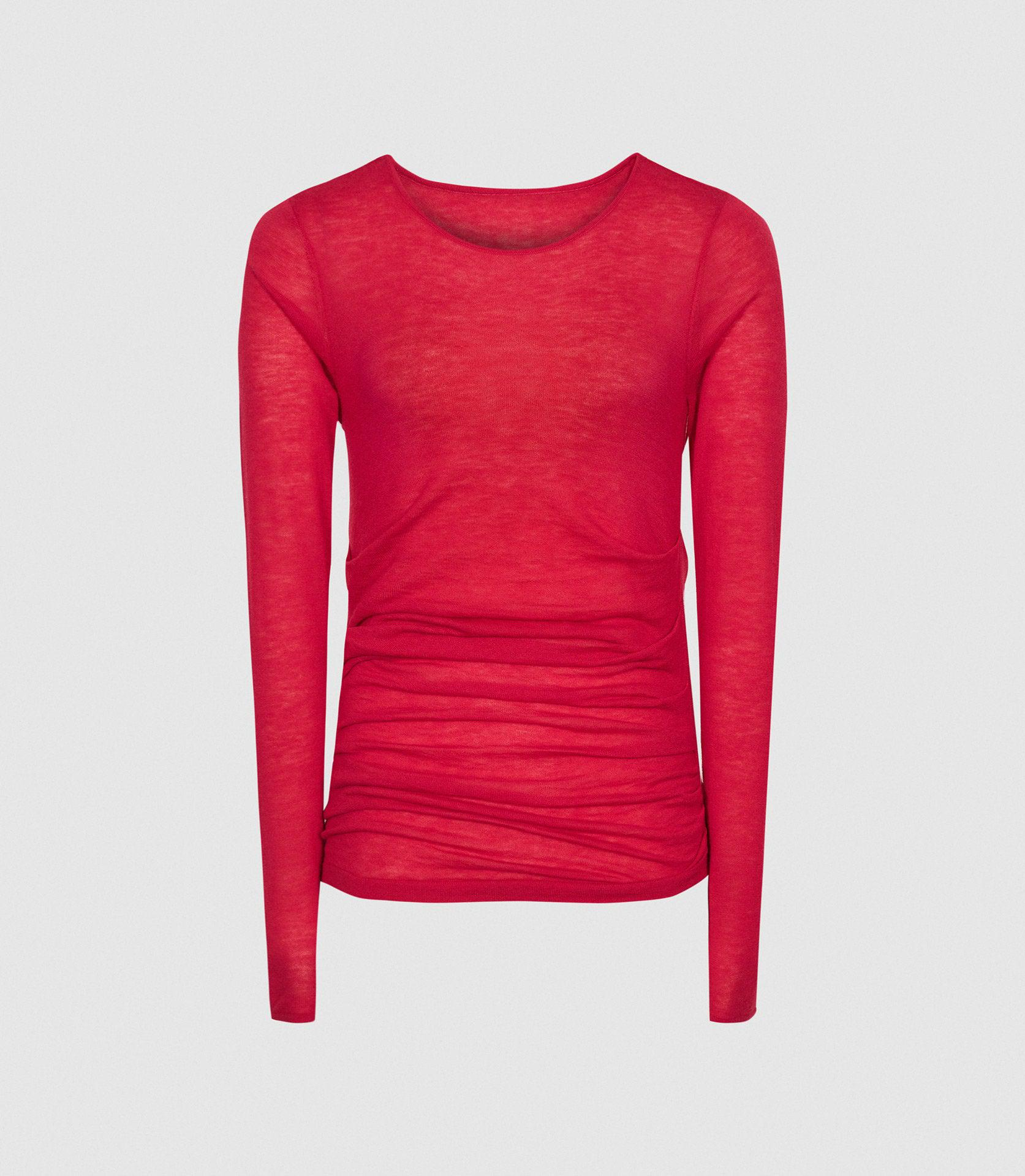 MARGOT - WOOL CASHMERE BLEND RUCHED TOP 6