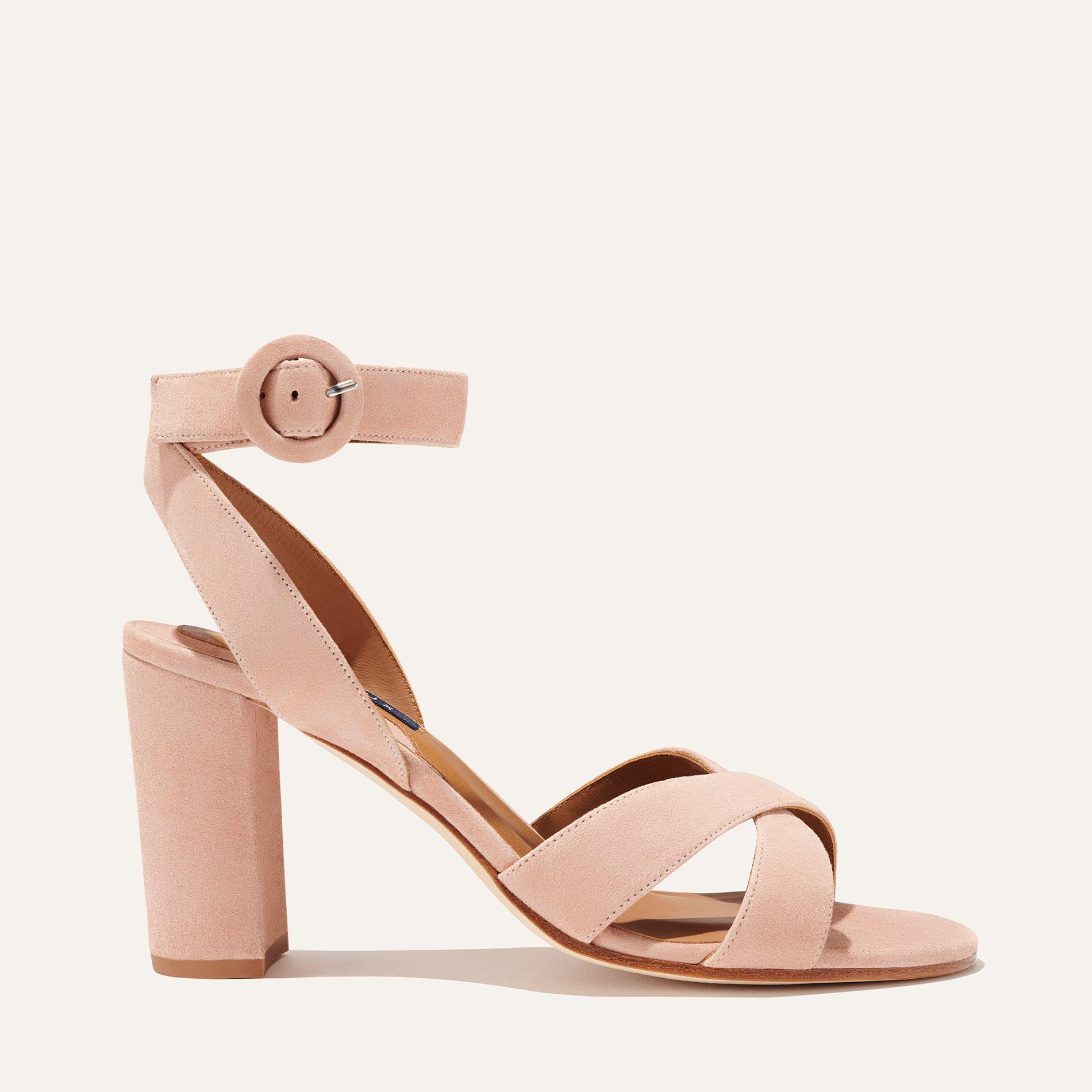 The Uptown Sandal - Almond Suede