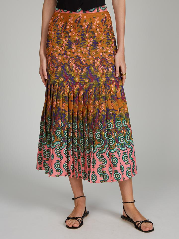 Diana E Skirt in Forest Jewel print 2