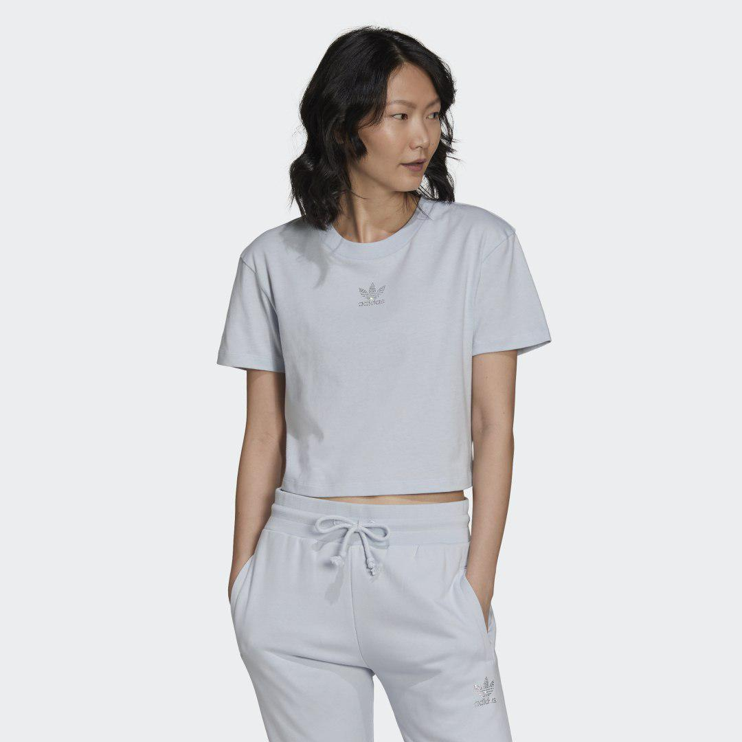 2000 Luxe Cropped Tee Halo Blue