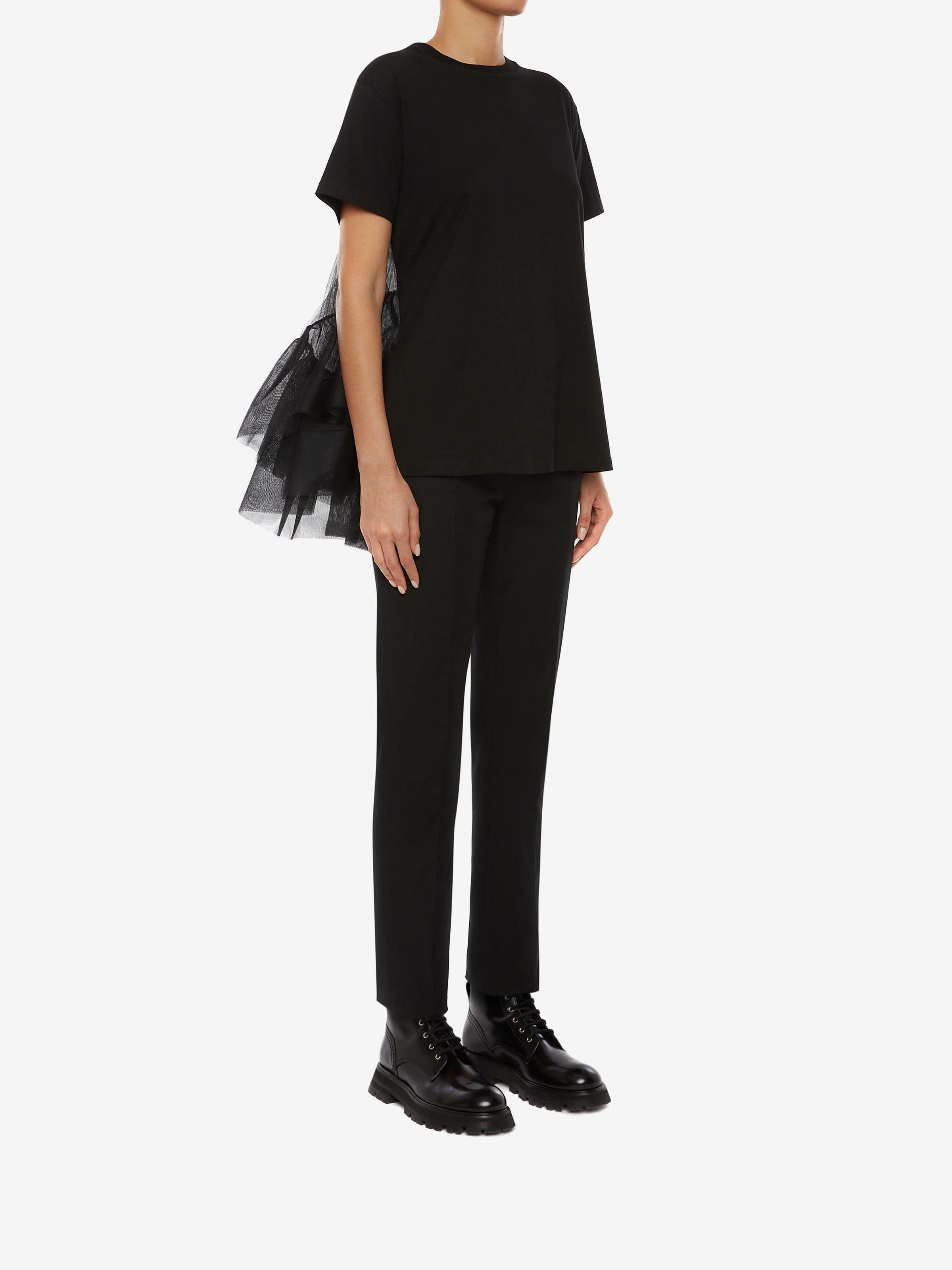 Cotton Jersey Tulle T-Shirt 1