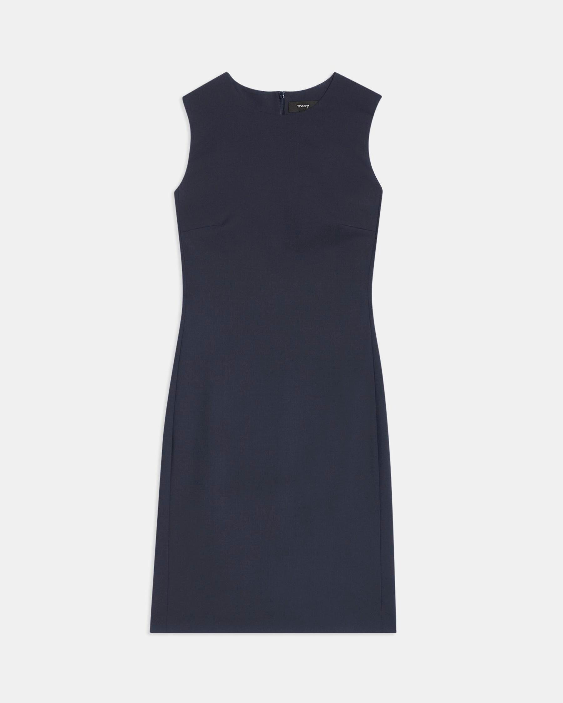 Sleeveless Fitted Dress in Good Wool 4