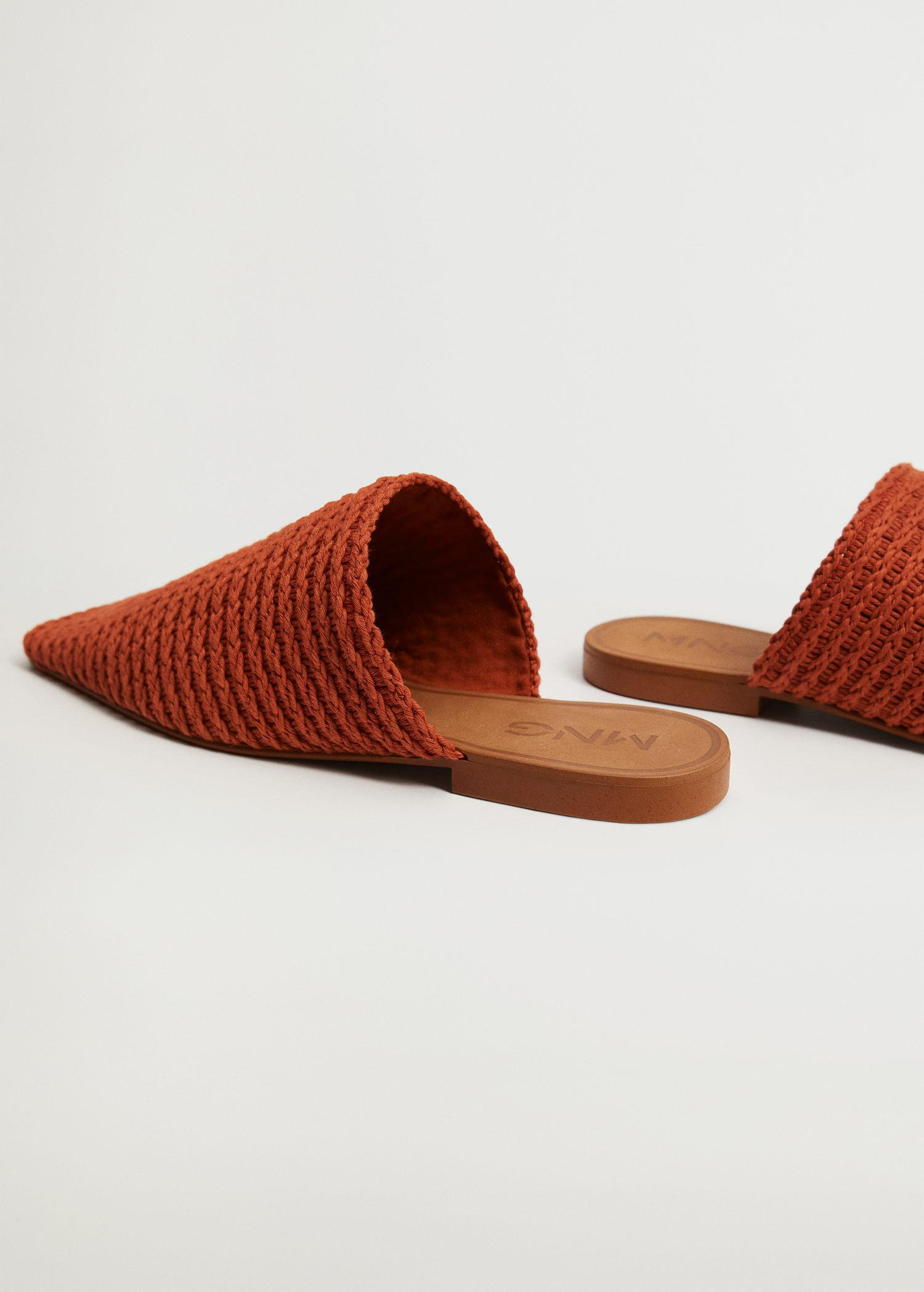 Recycled cotton braided babouche slippers 2
