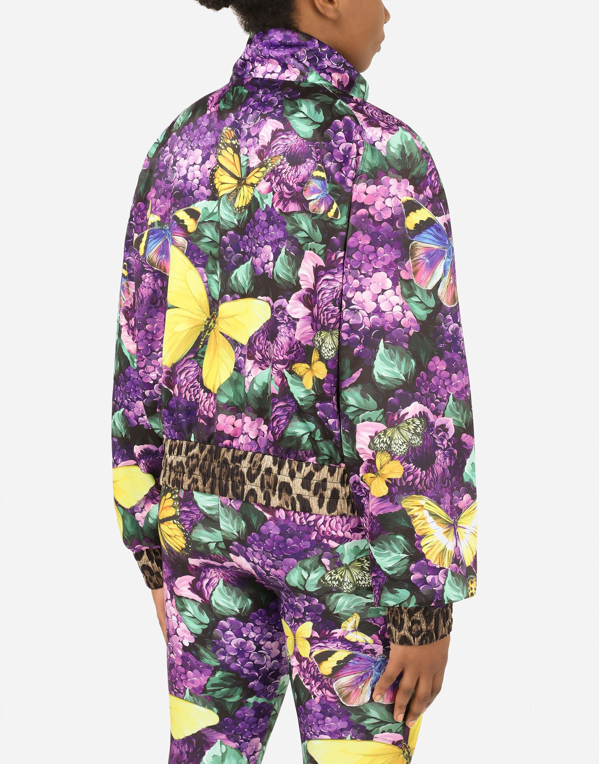Cropped butterfly-print bomber jacket 3
