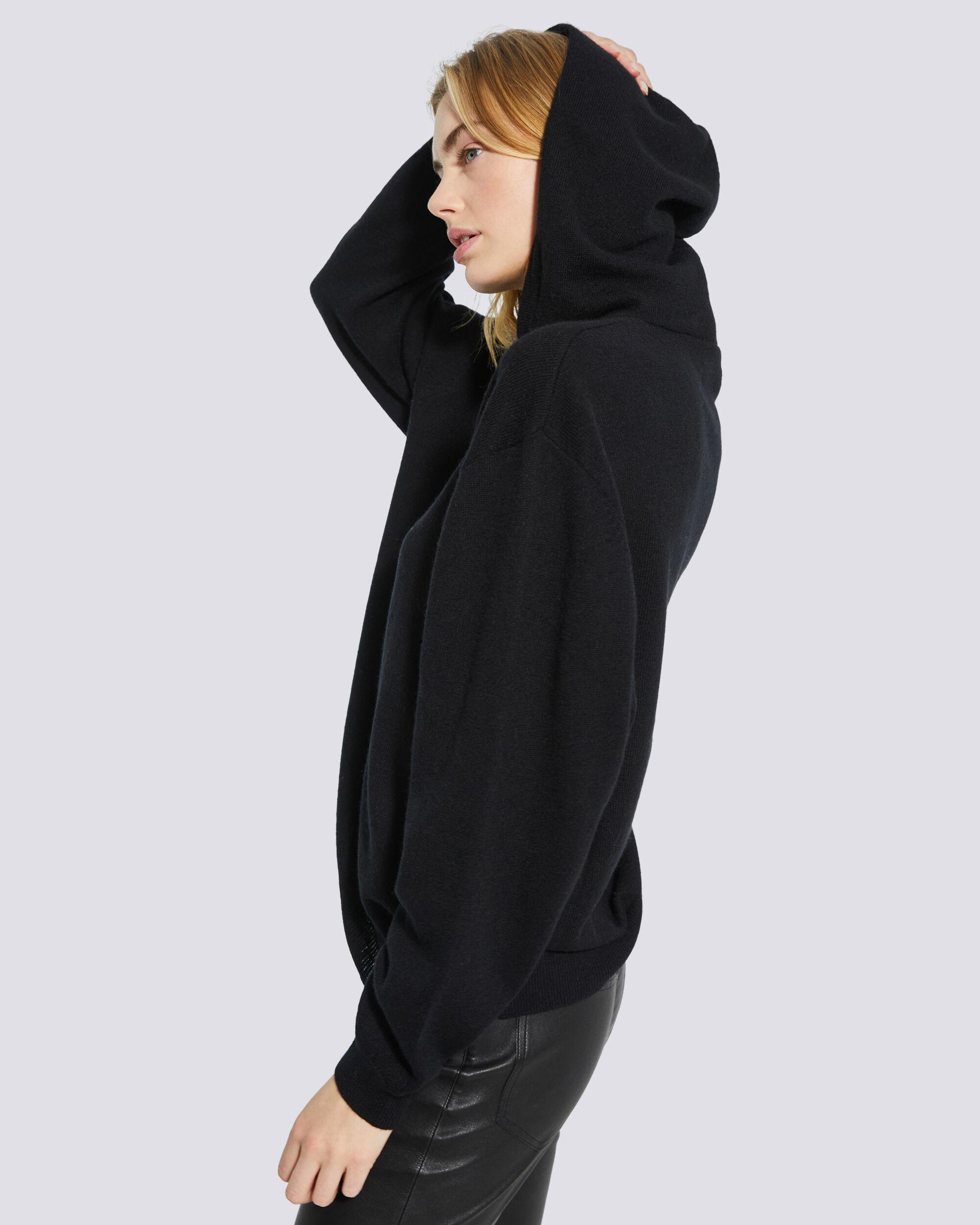 TIAGO COTTON AND CASHMERE HOODED SWEATSHIRT 4