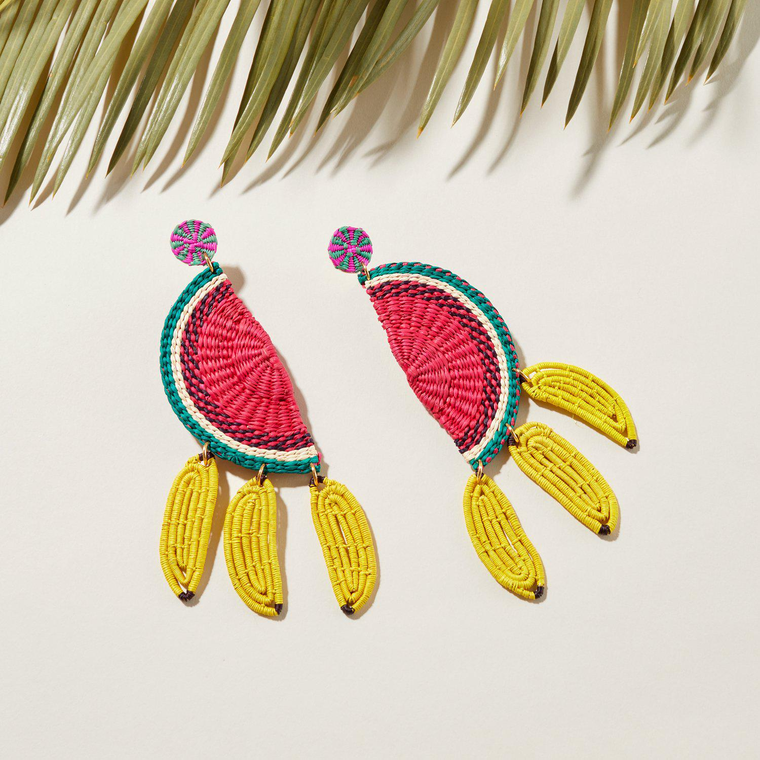 MG x Coquette's Armoire Fruitilicious Earrings Red Yellow