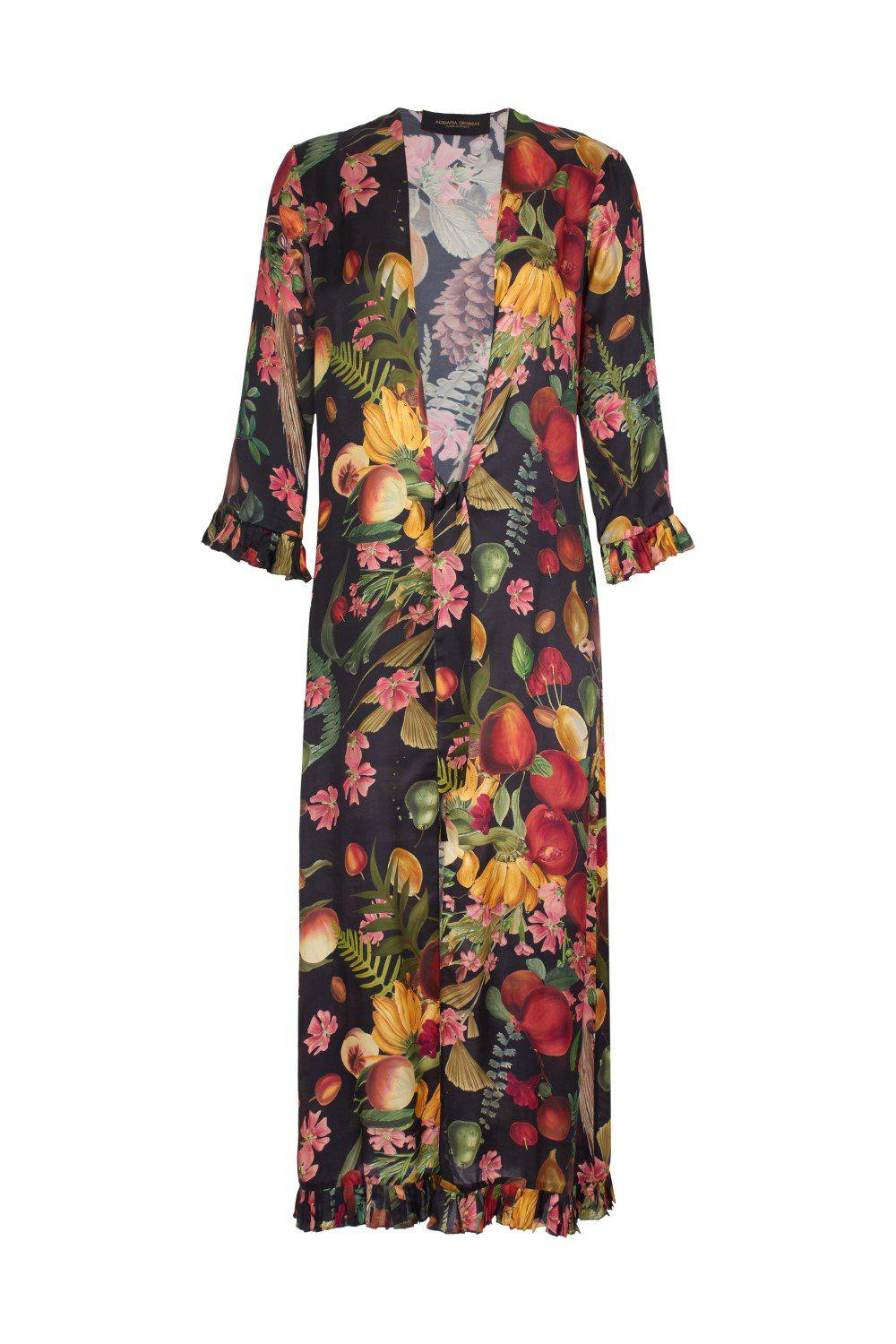 Fruits Exotiques Long Robe with Frills 3